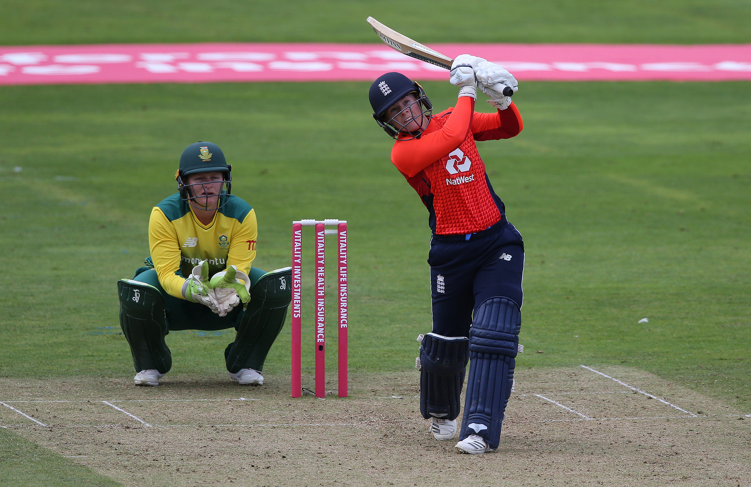 Beaumont goes long against the Proteas // Getty