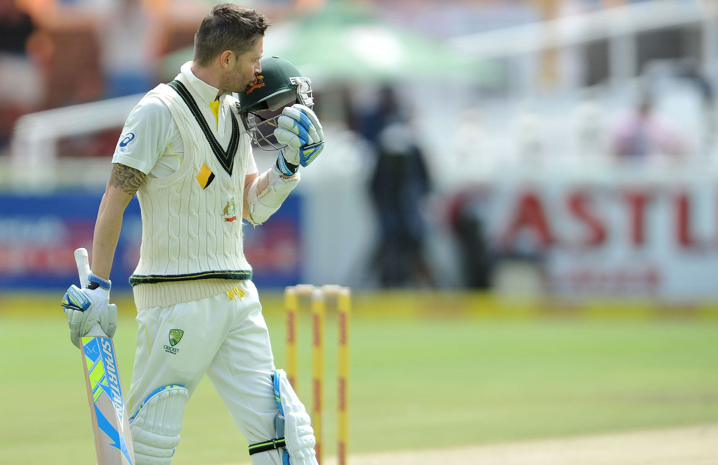 Clarke celebrates after withstanding a Morne Morkel onslaught // Getty