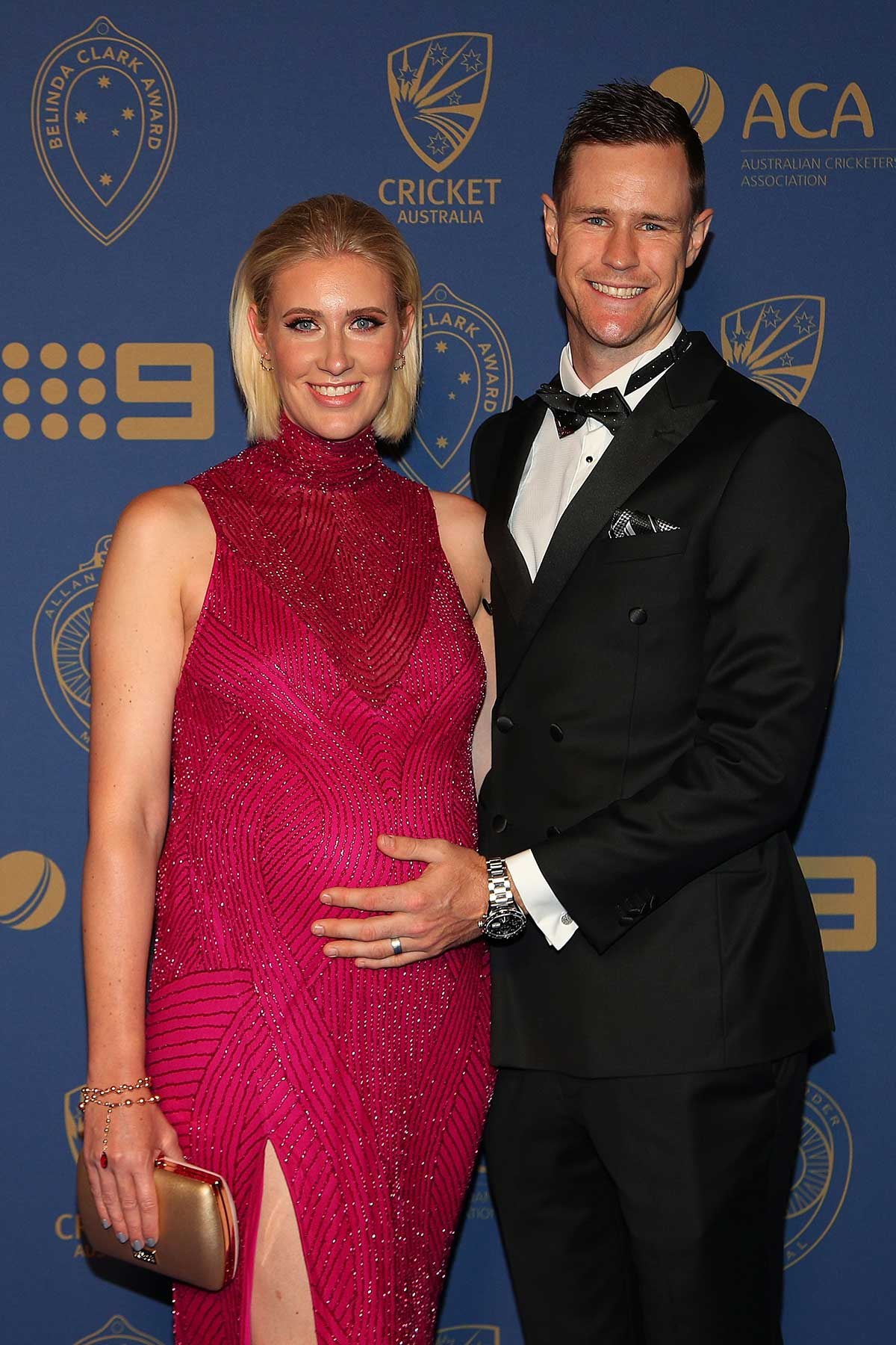 Fast bowler Jason Behrendorff and wife Juvelle // Getty