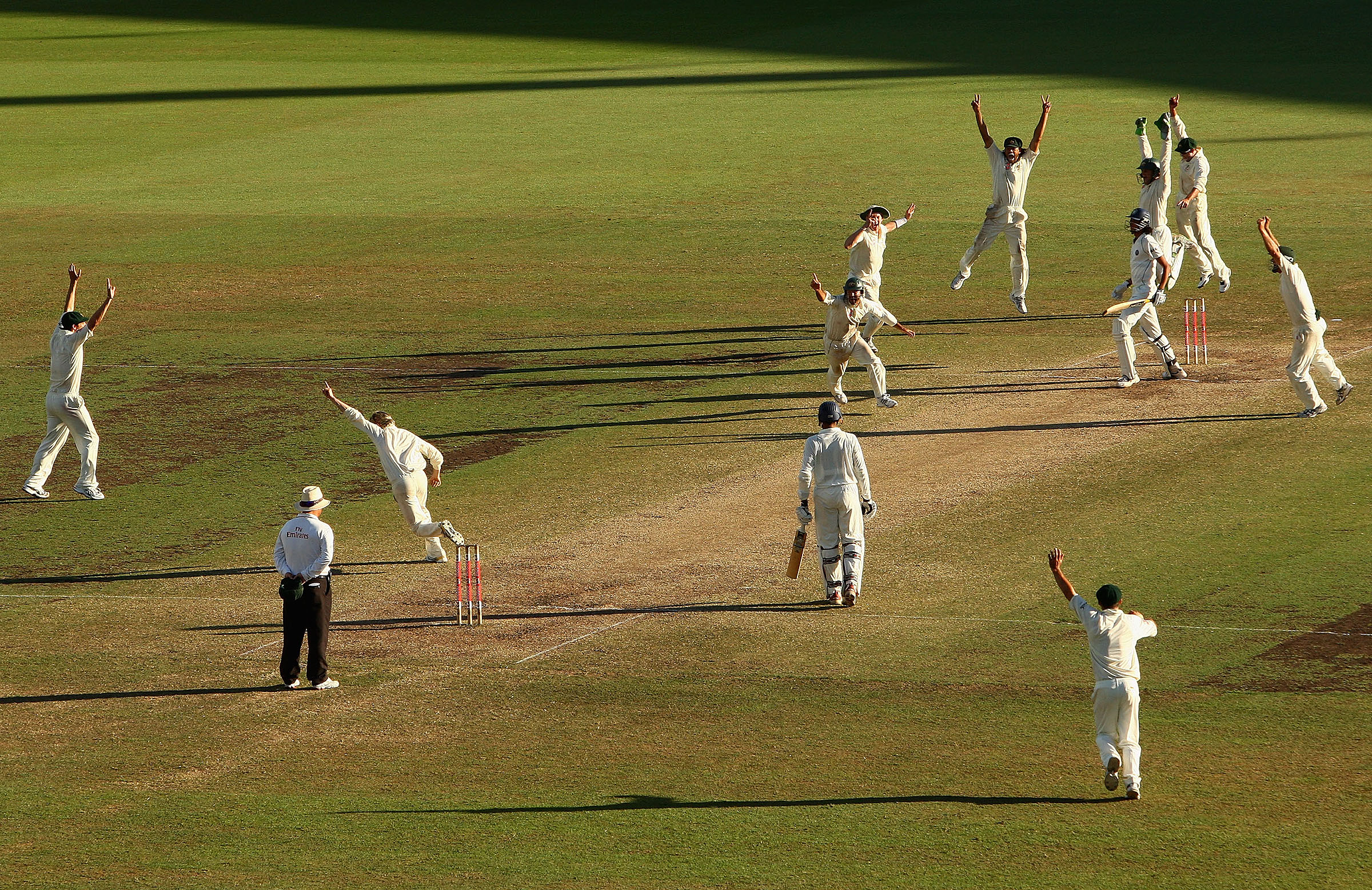 The final wicket from the infamous 2008 SCG Test // Getty