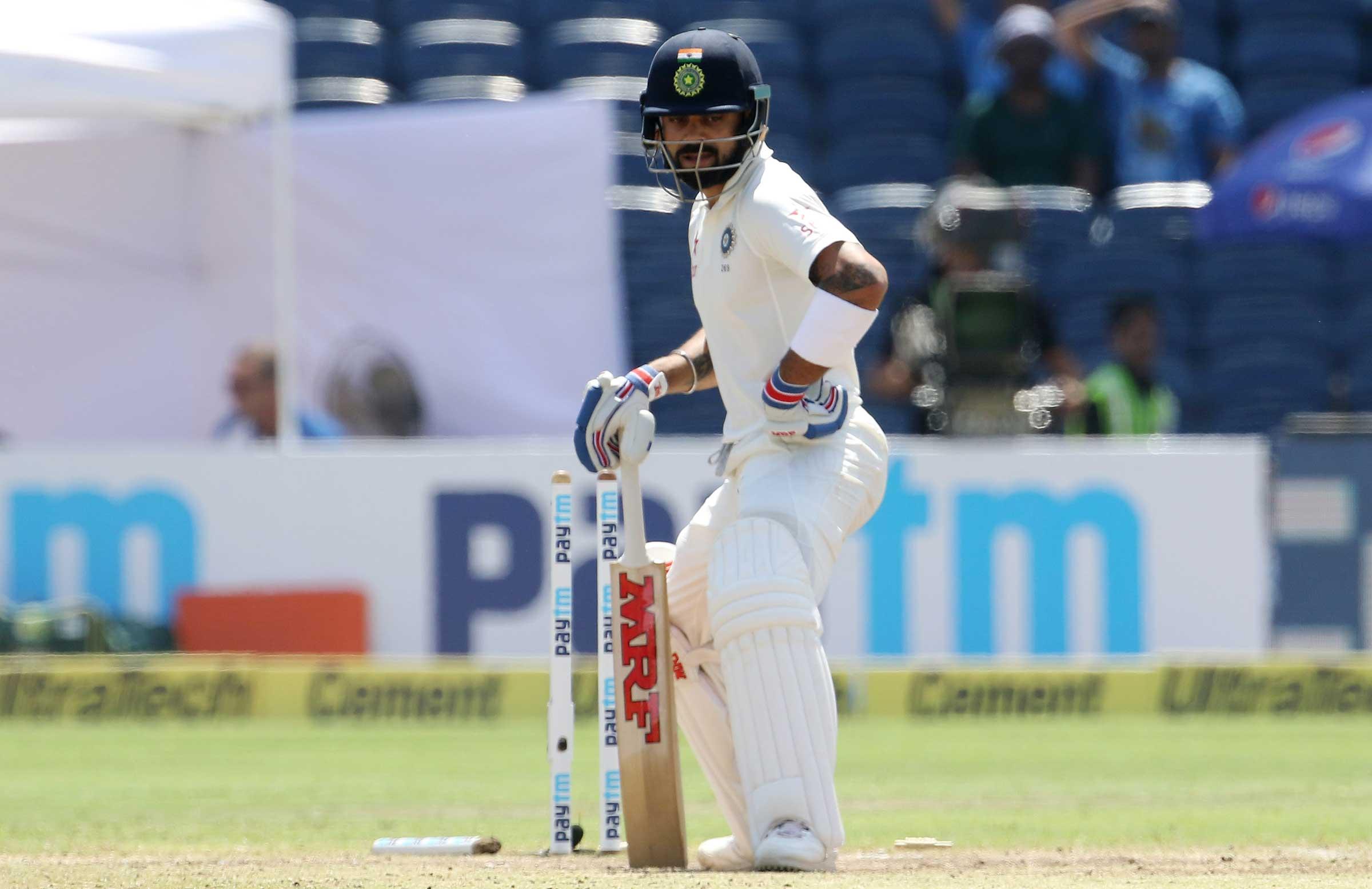 Kohli left bemused after being bowled // BCCI
