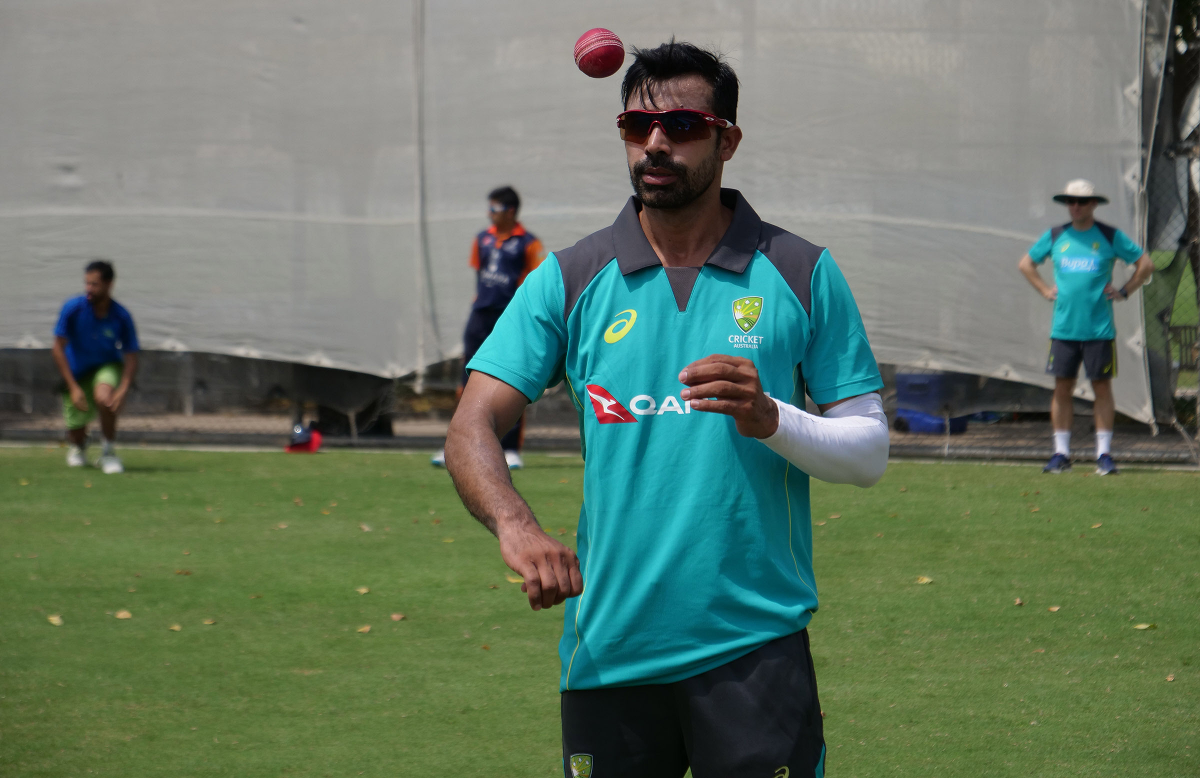 Indian wrist spinner Pardeep Sahu is training with the Australians // cricket.com.au