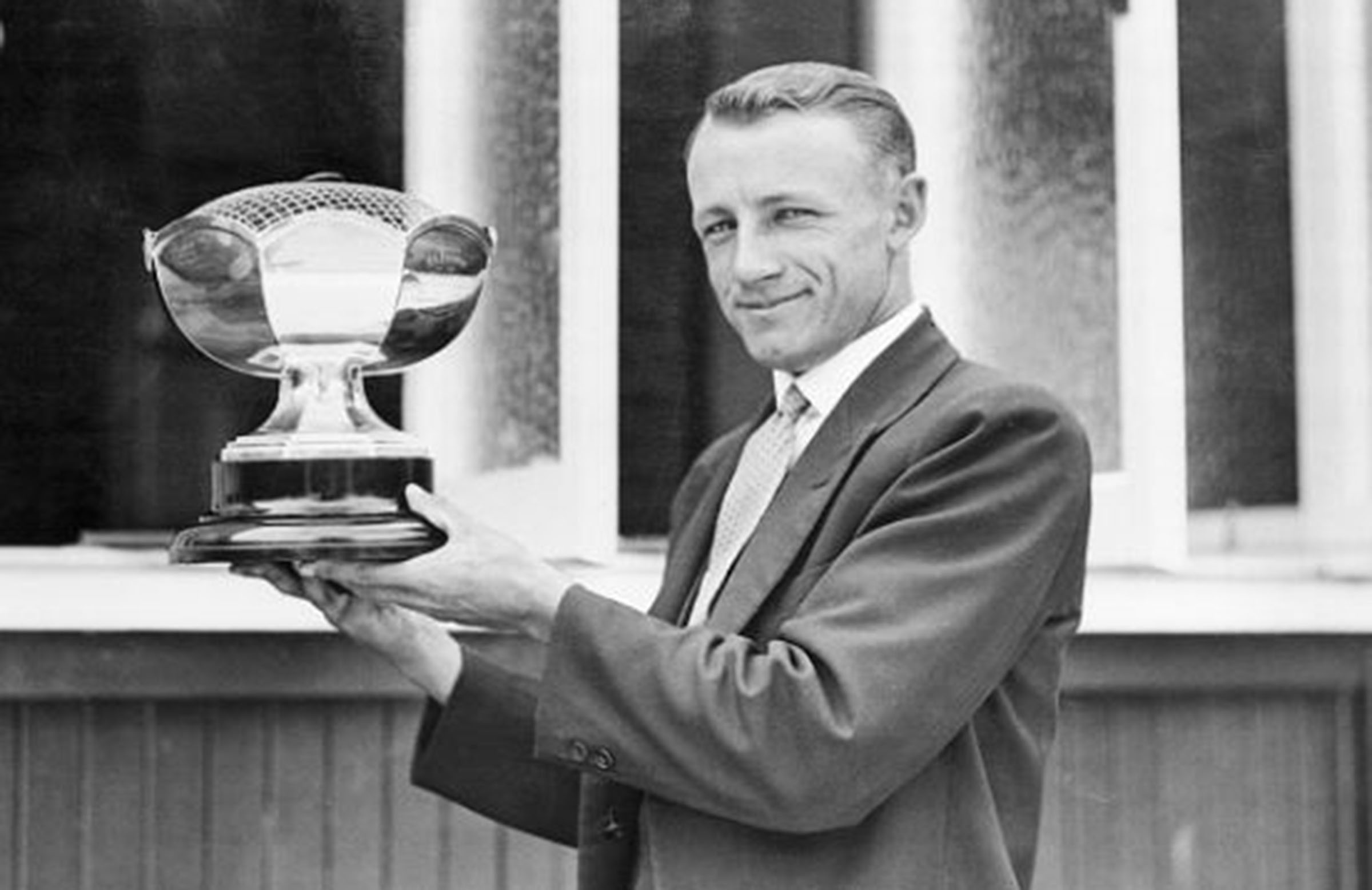 A young Bradman after claiming the world record Test score // Getty