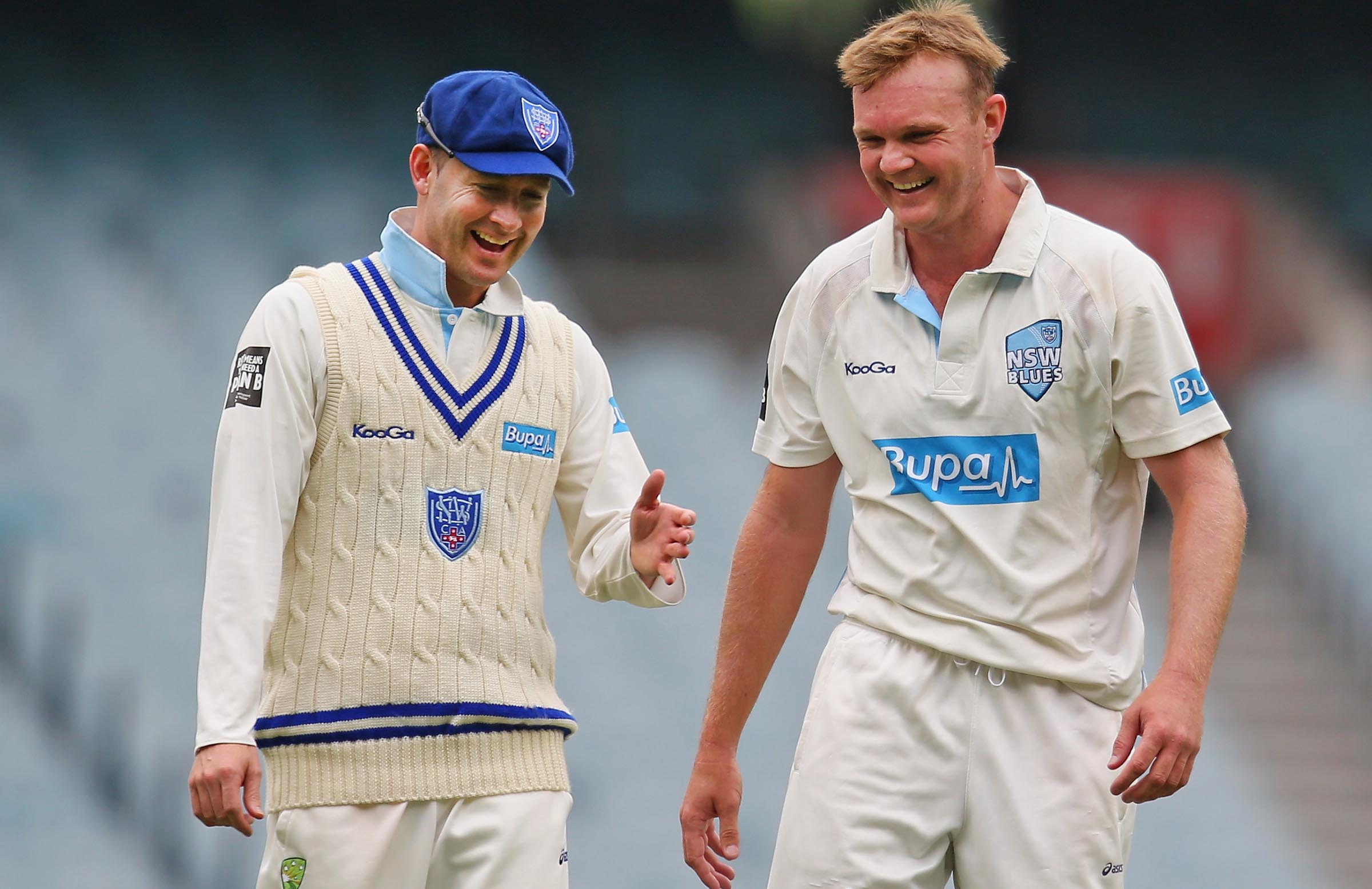 Bollinger and former NSW captain Michael Clarke // Getty