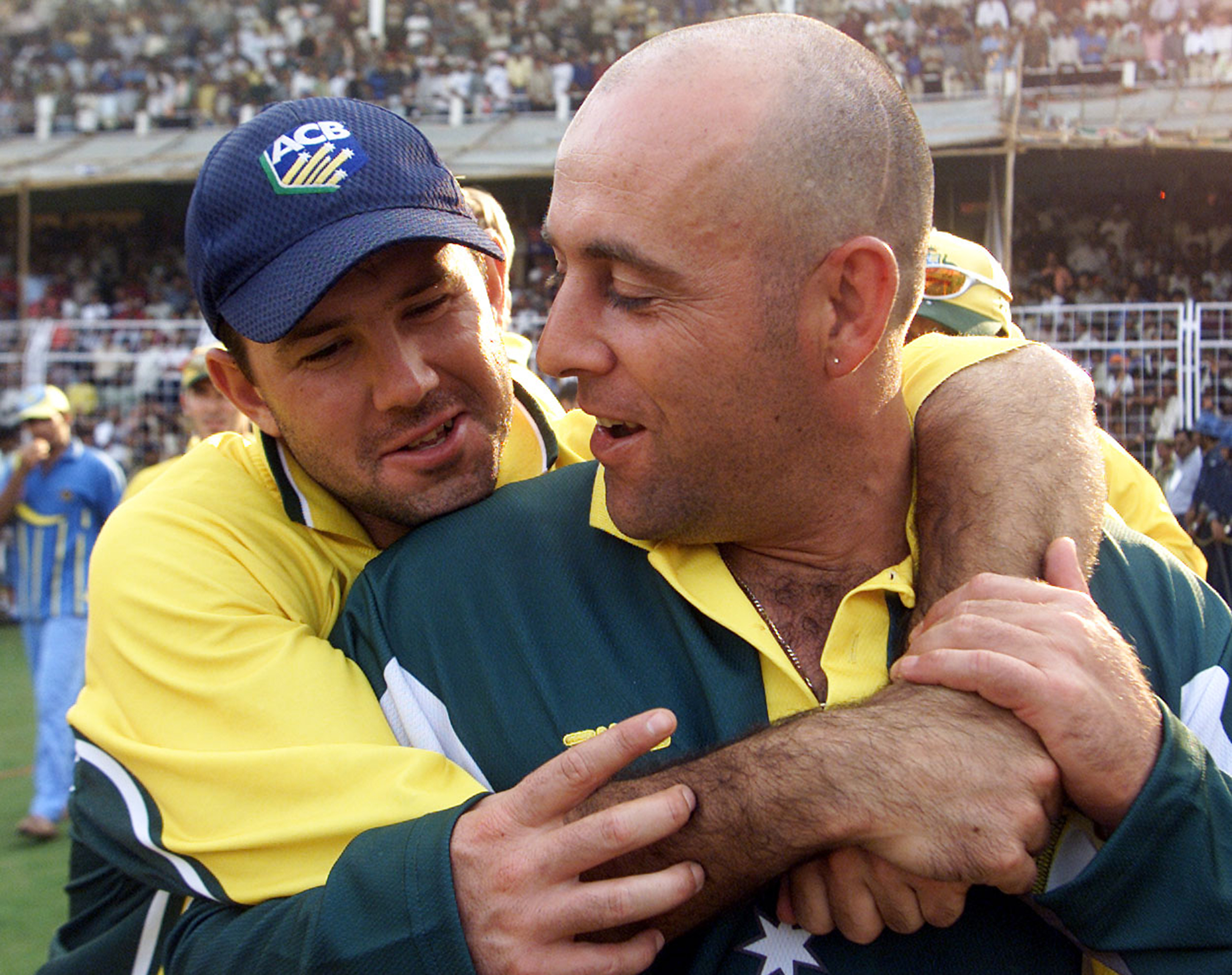 Ponting and Lehmann in India in 2001 // Getty