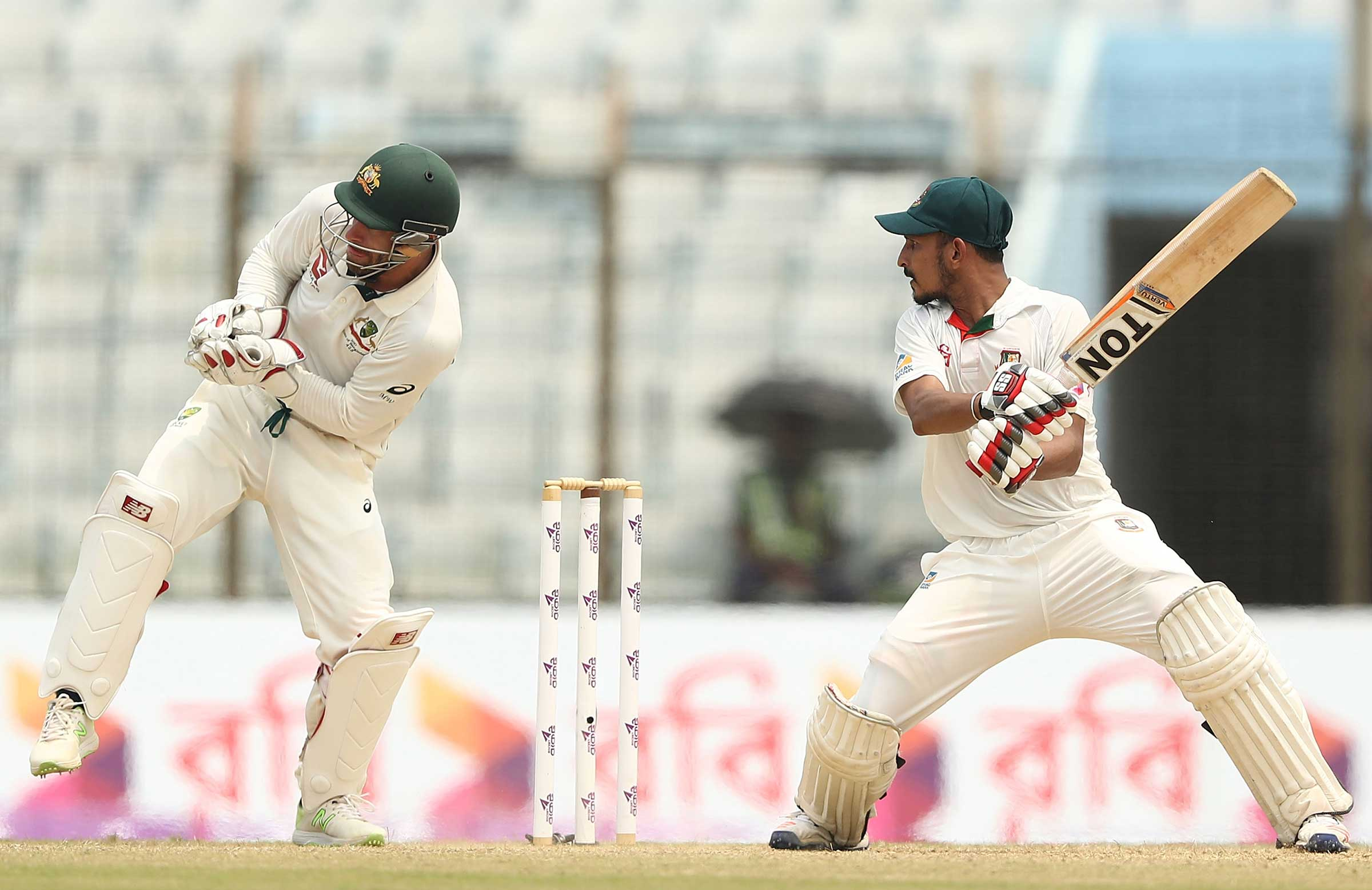 Wade takes the edge to remove Nasir Hossain // Getty
