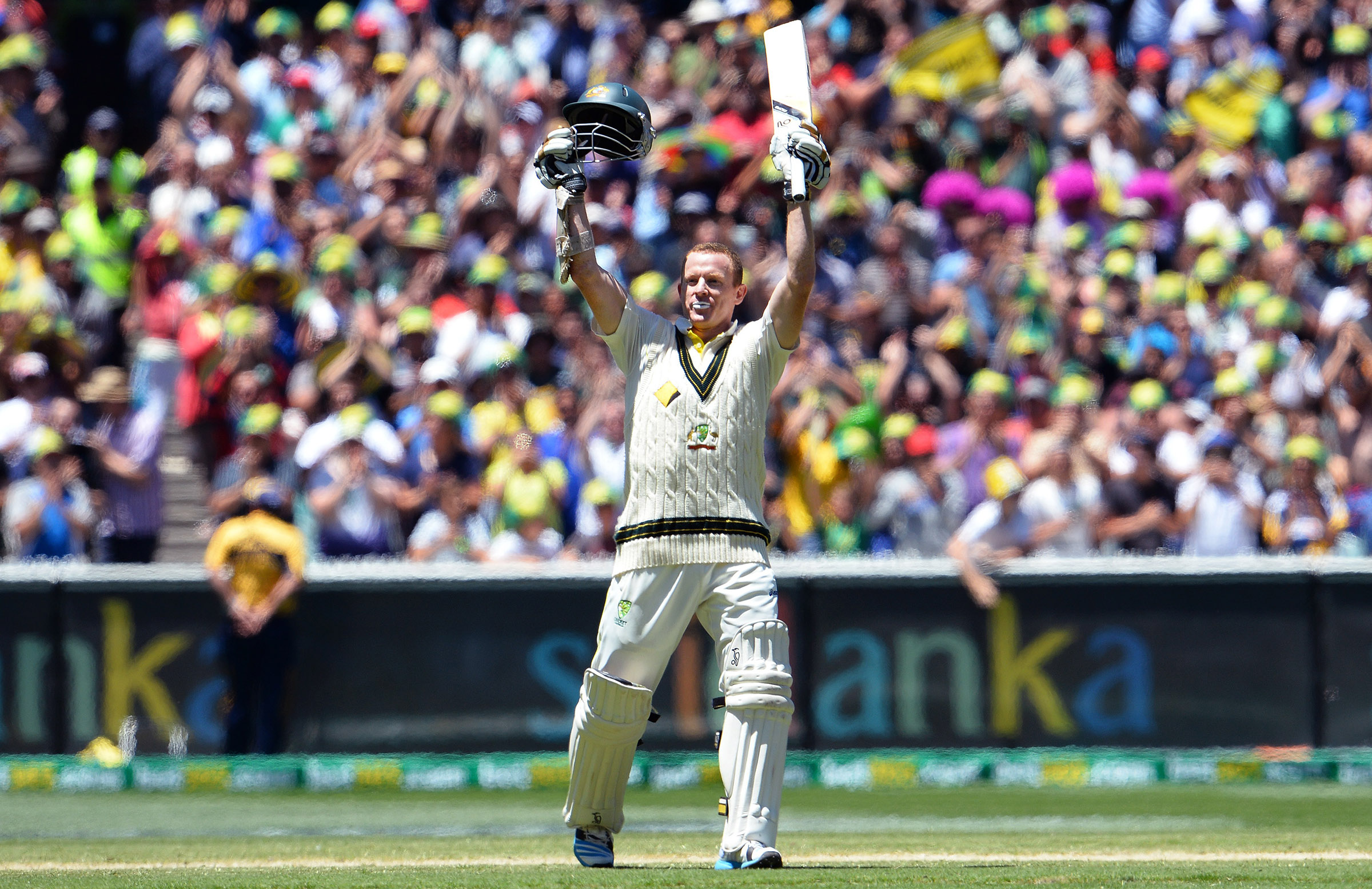Rogers celebrates his Ashes ton at the MCG in 2013 // Getty