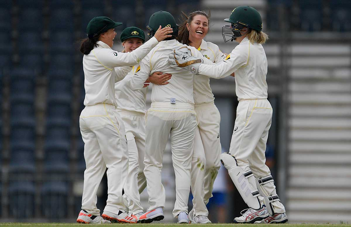 CA XI celebrate another wicket // Getty