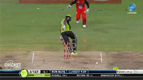 Russell-struck-by-bouncer-in-hit-wicket-dismissal-still