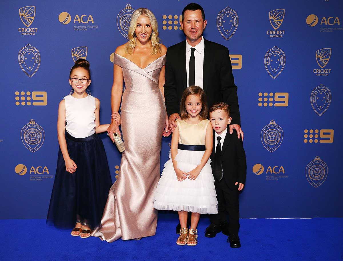 The Ponting Family // Getty
