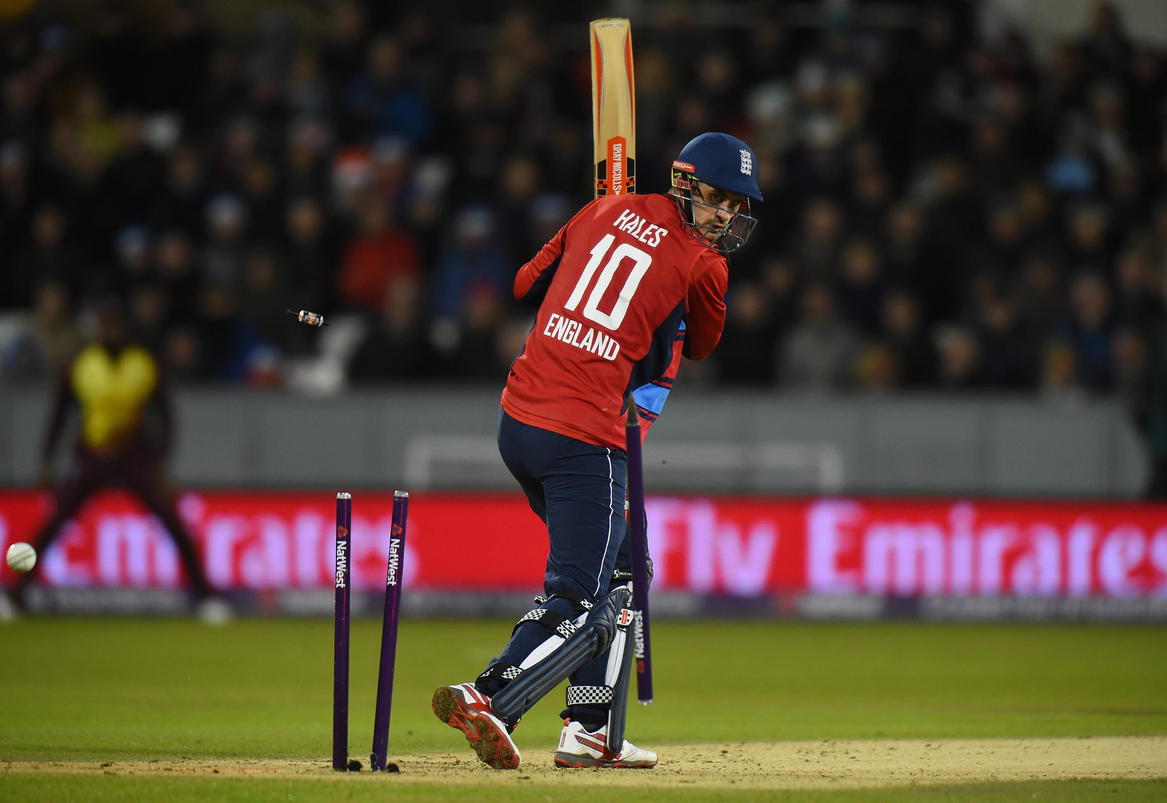 Hales' rapid innings was ended by Brathwaite // Getty
