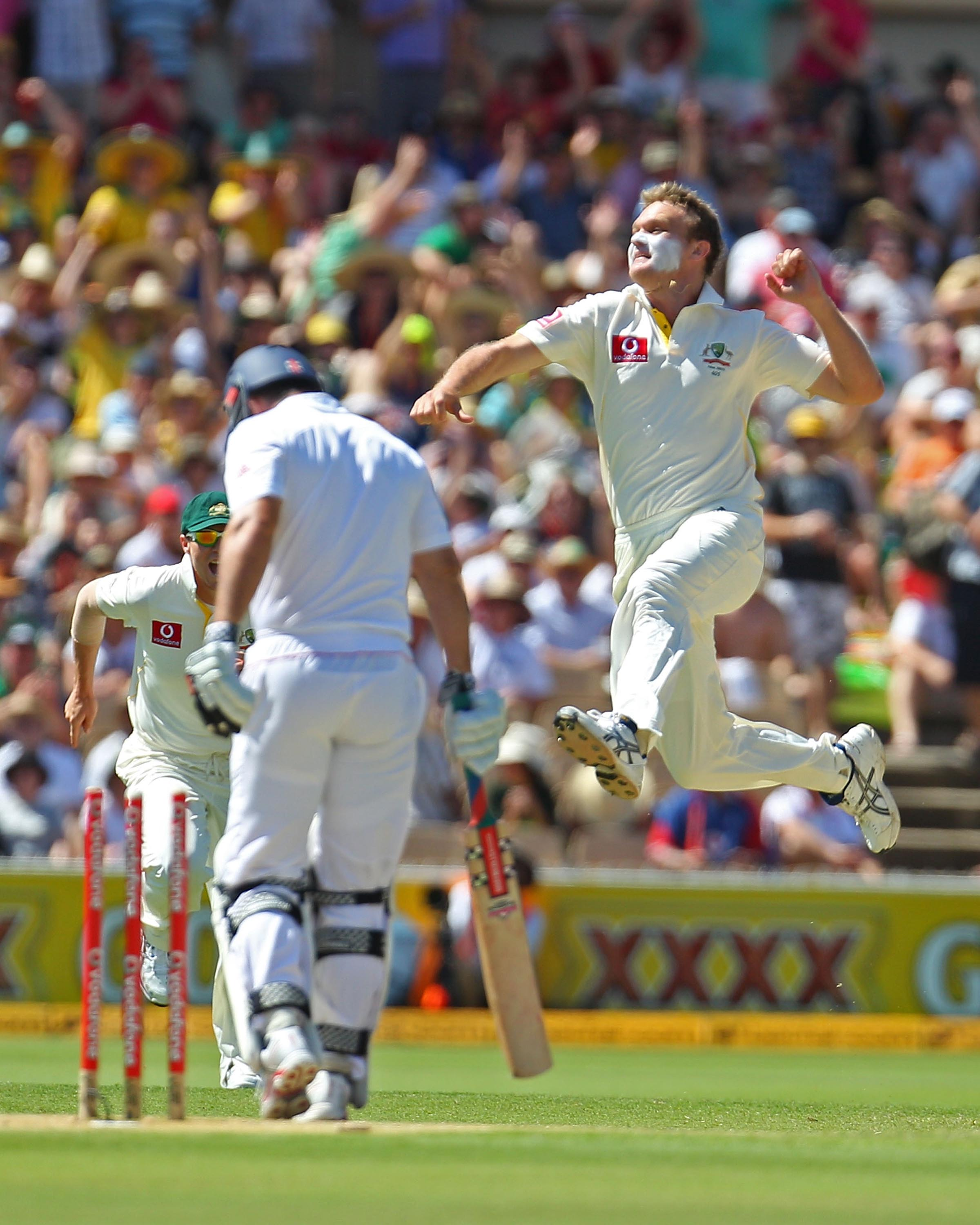 Bollinger took 50 Test wickets for Australia at an average of 25.92 // Getty