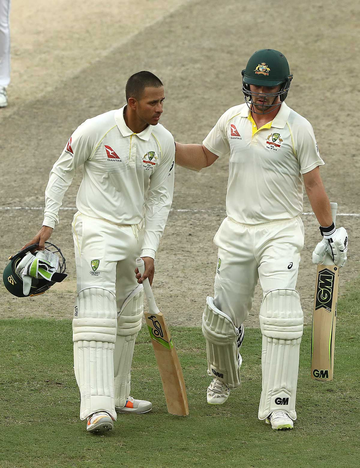 Khawaja and Head saw Australia to stumps // Getty