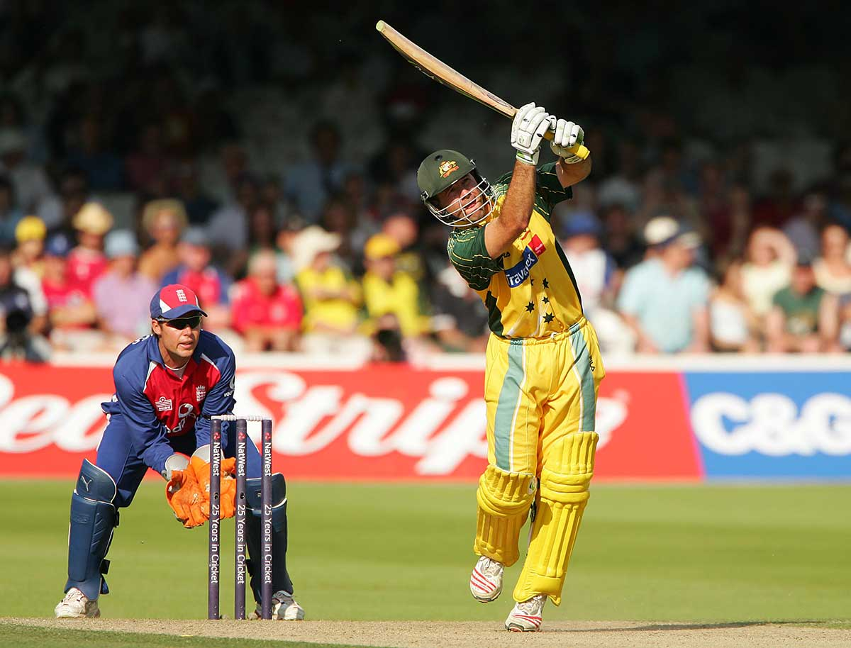 Ponting hits out on his way to a Lord's ton in 2005 // Getty