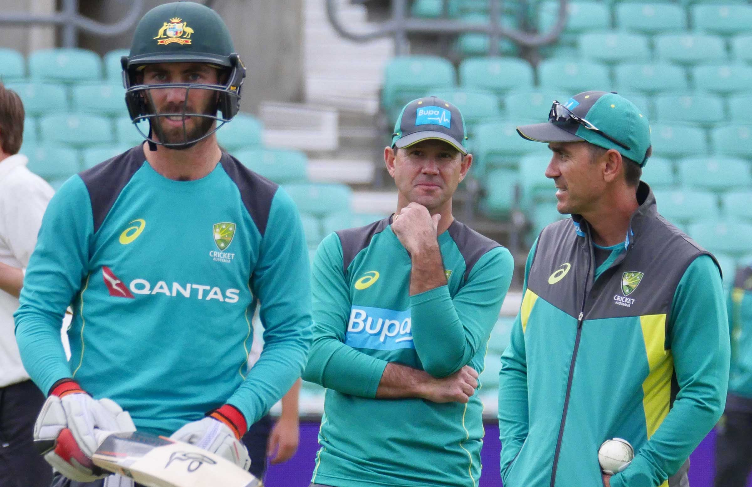 Maxwell training under Ponting and Langer's eye // Cricket Network
