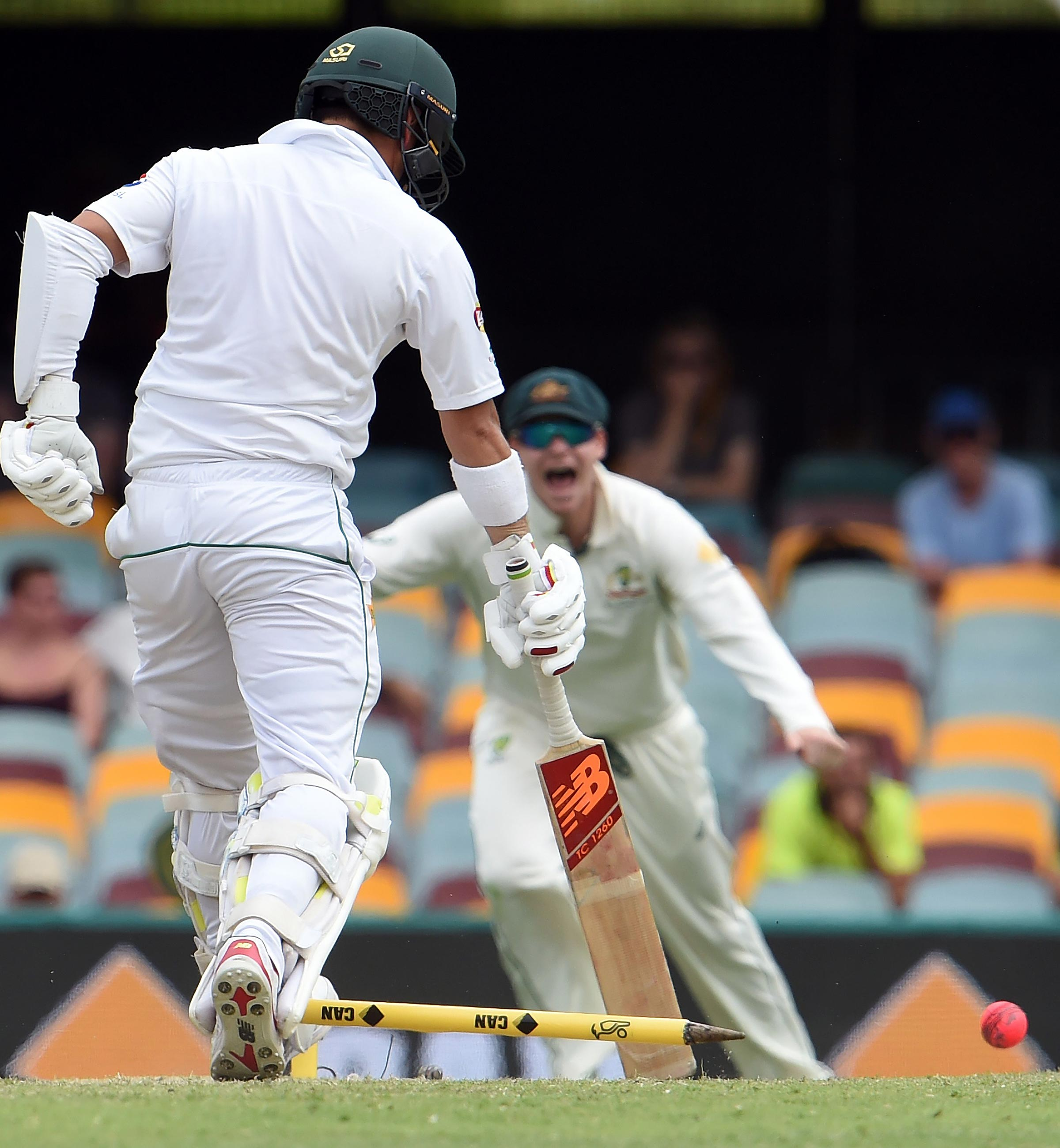 The moment Smith secured victory for Australia // Getty