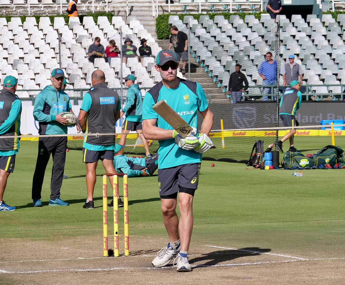 Cameron Bancroft prepares for day four // Andre Mauger