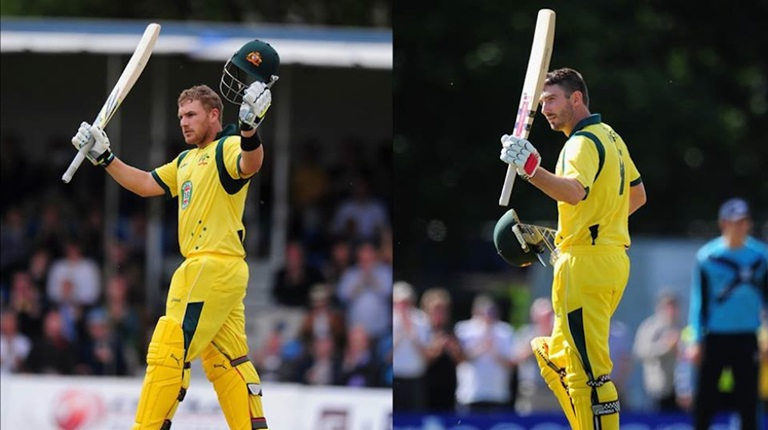 Aaron Finch and Shaun Marsh