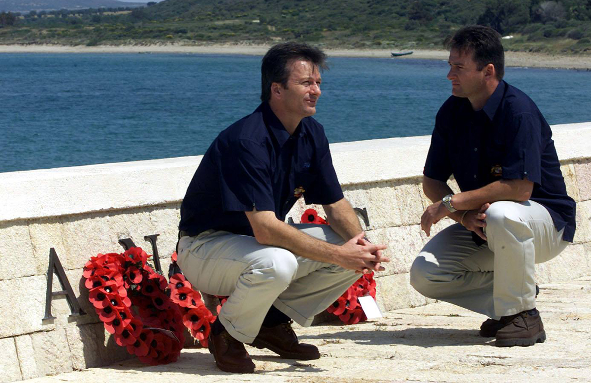 Waughs at ANZAC Cove // Getty Images