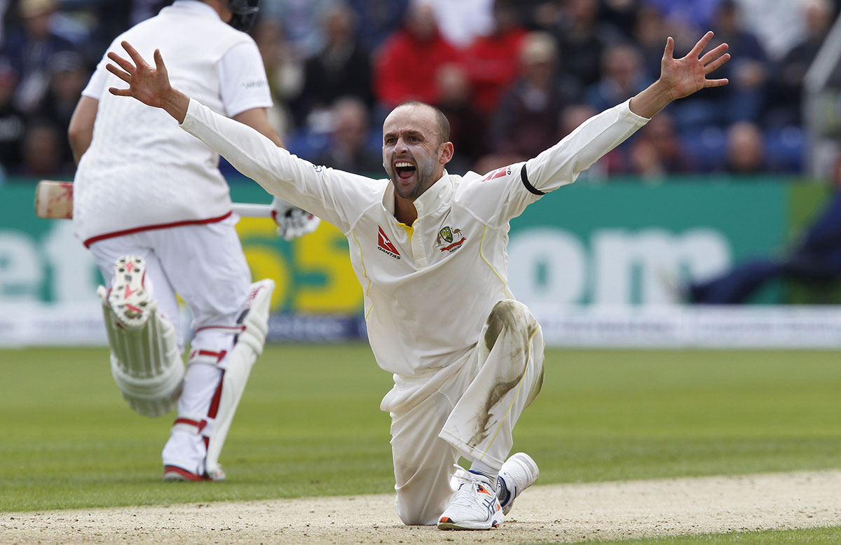 Nathan Lyon appeals for lbw // Getty Images