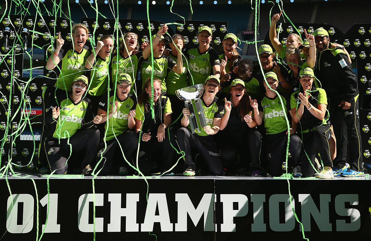 Cheatle was part of the Thunder's WBBL 01 title // Getty