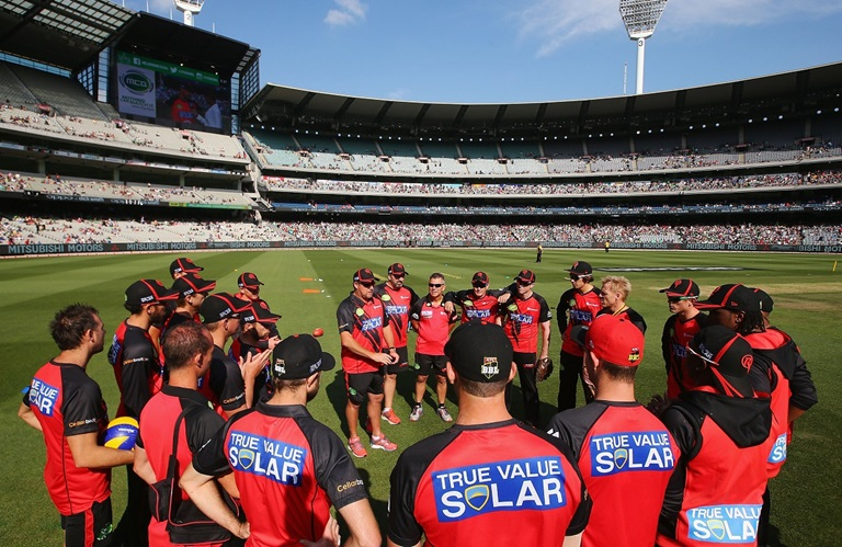 Melbourne Renegades BBL team talk