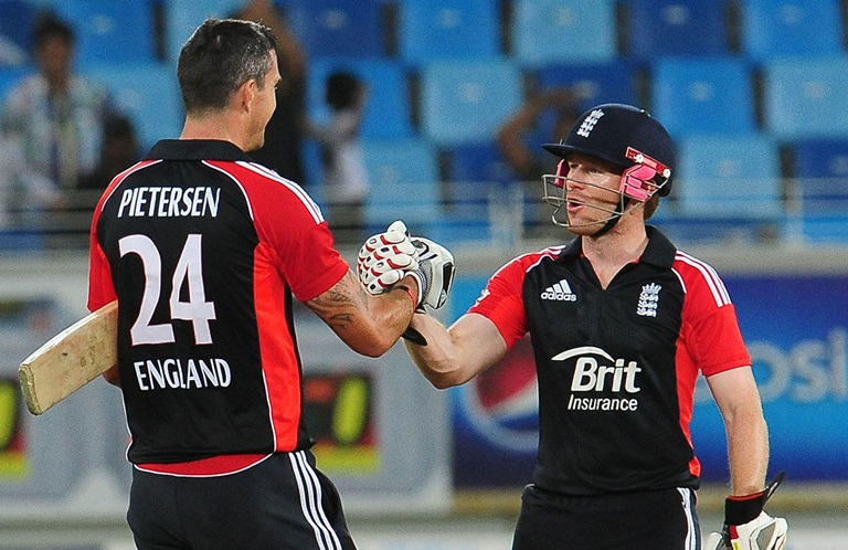 KP and Eoin Morgan in ahhpier times // Getty Images