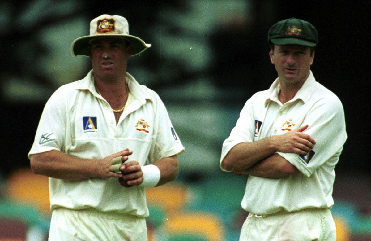 Shane Warne and Steve Waugh in November 1999