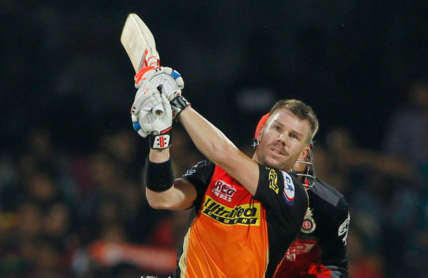 David Warner in the IPL final