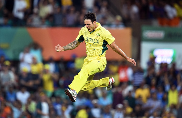 Aussie fans will be hoping to see Mitch Johnson in action again