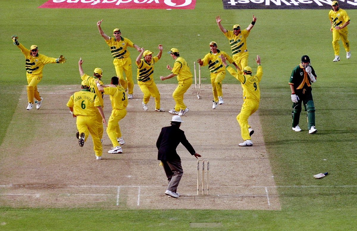 Australia celebrates as a lonely Allan Donald is left to contemplate what went wrong // Getty