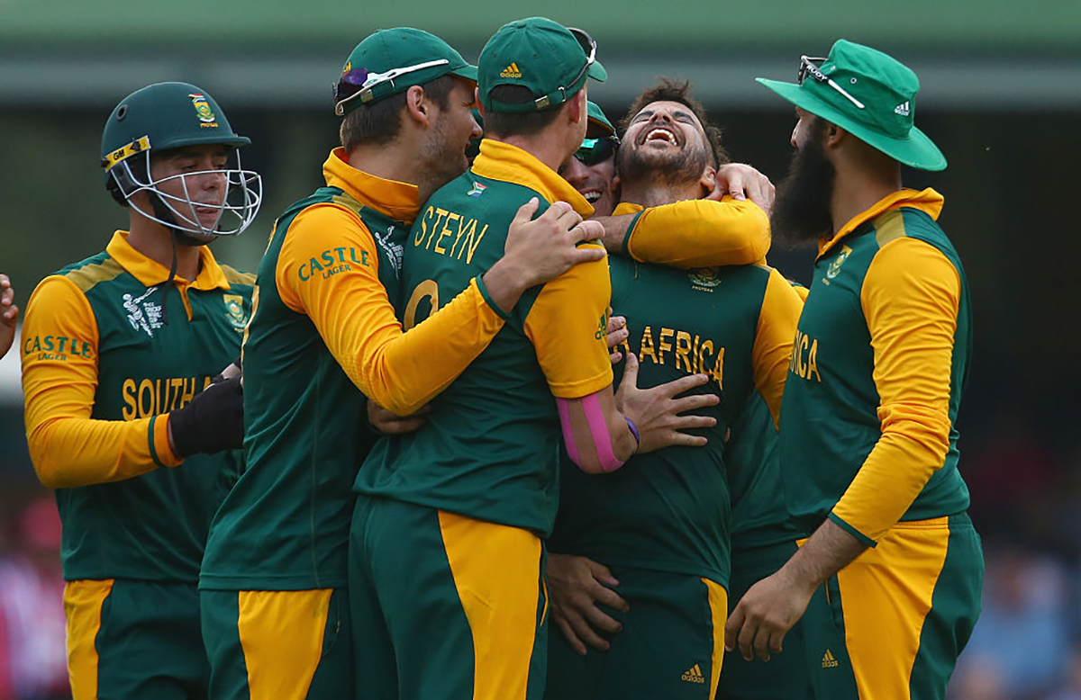 Duminy was delighted after picking up a World Cup hat-trick // Getty