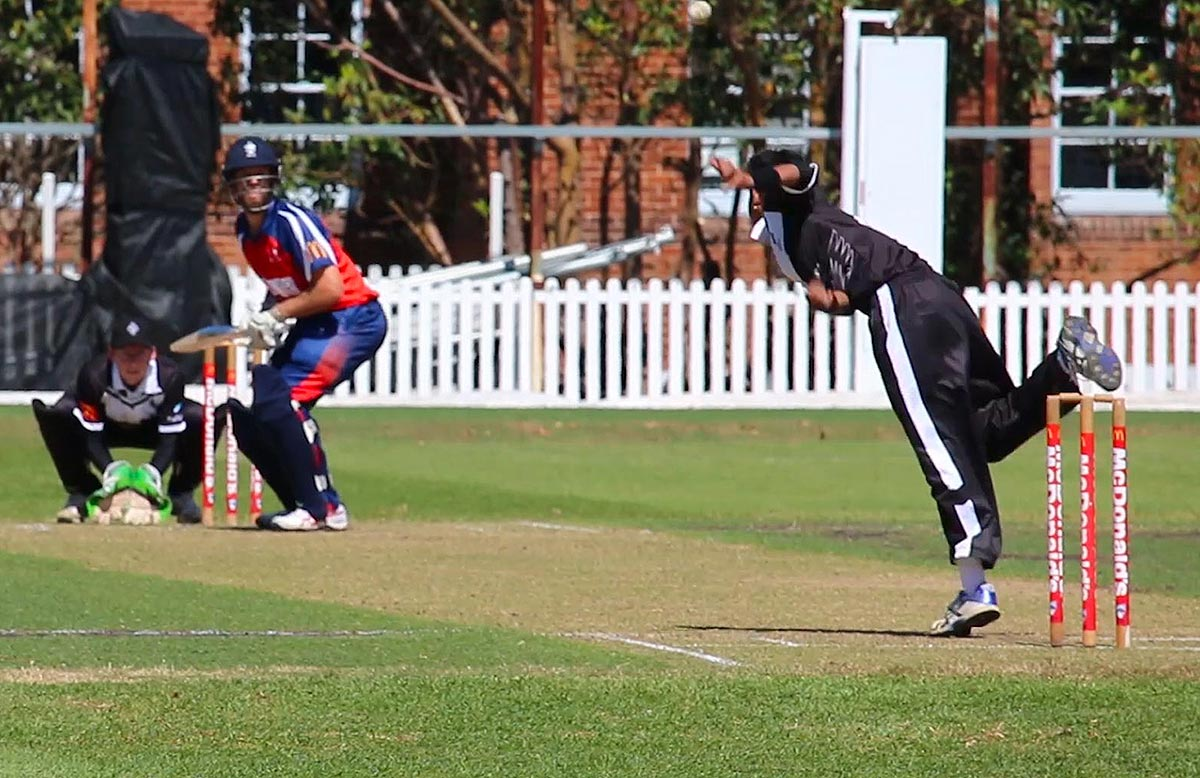 Lamichhane in action for Western Suburbs // Getty Images