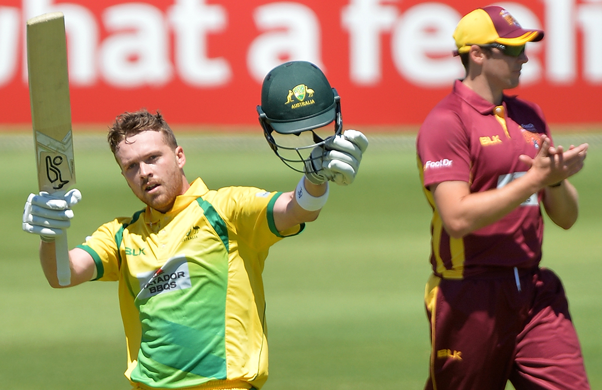 Gibson notched a maiden List A ton on debut // Getty