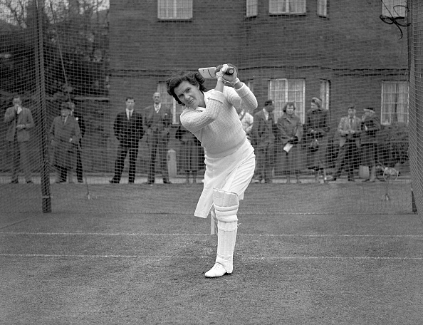 Betty Wilson bats at Lord's in the 1950s // Getty