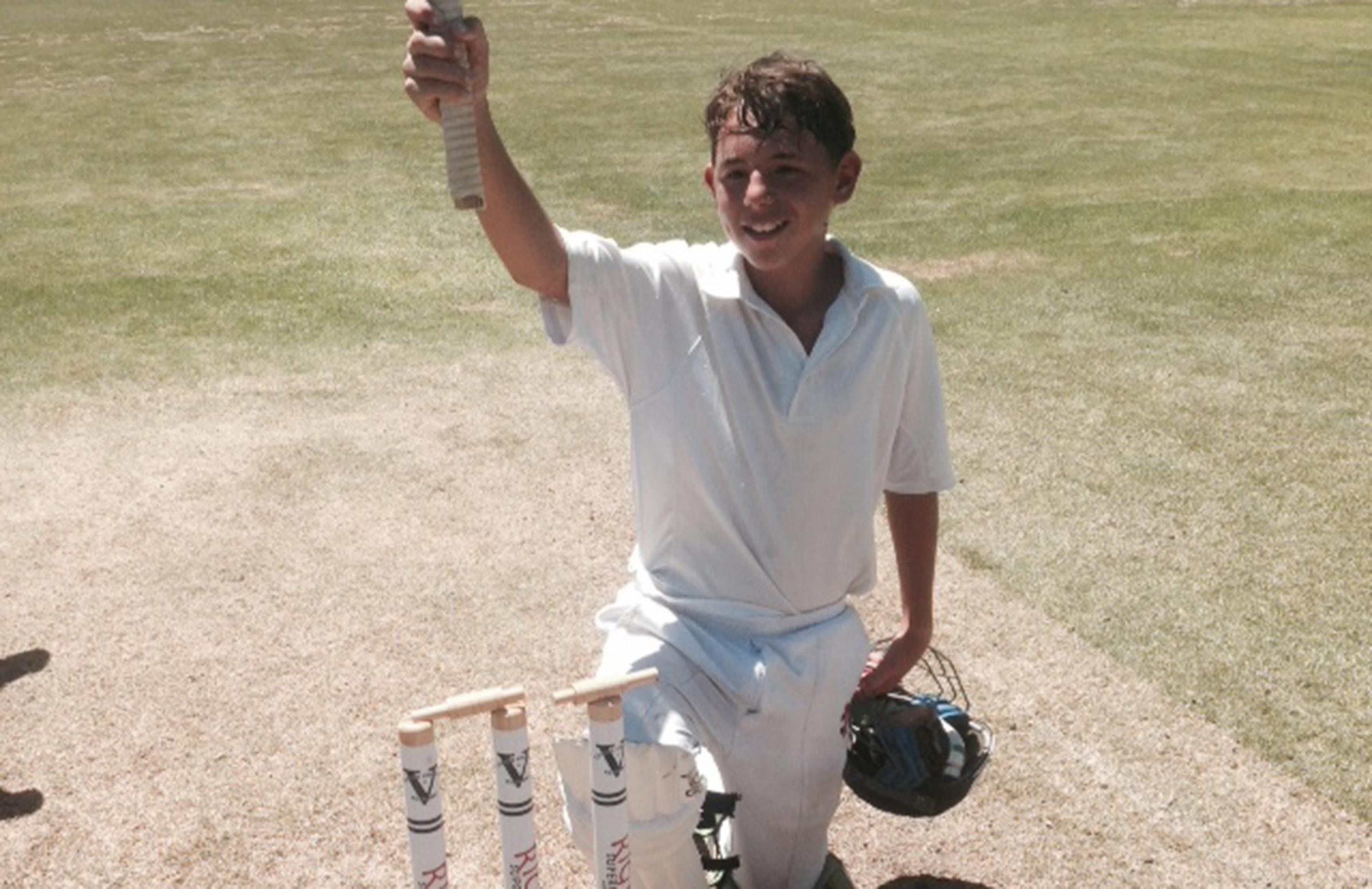Unlucky victim: Towns batsman Jacobi Unbehaun was given out in unusual circumstances // Towns CC