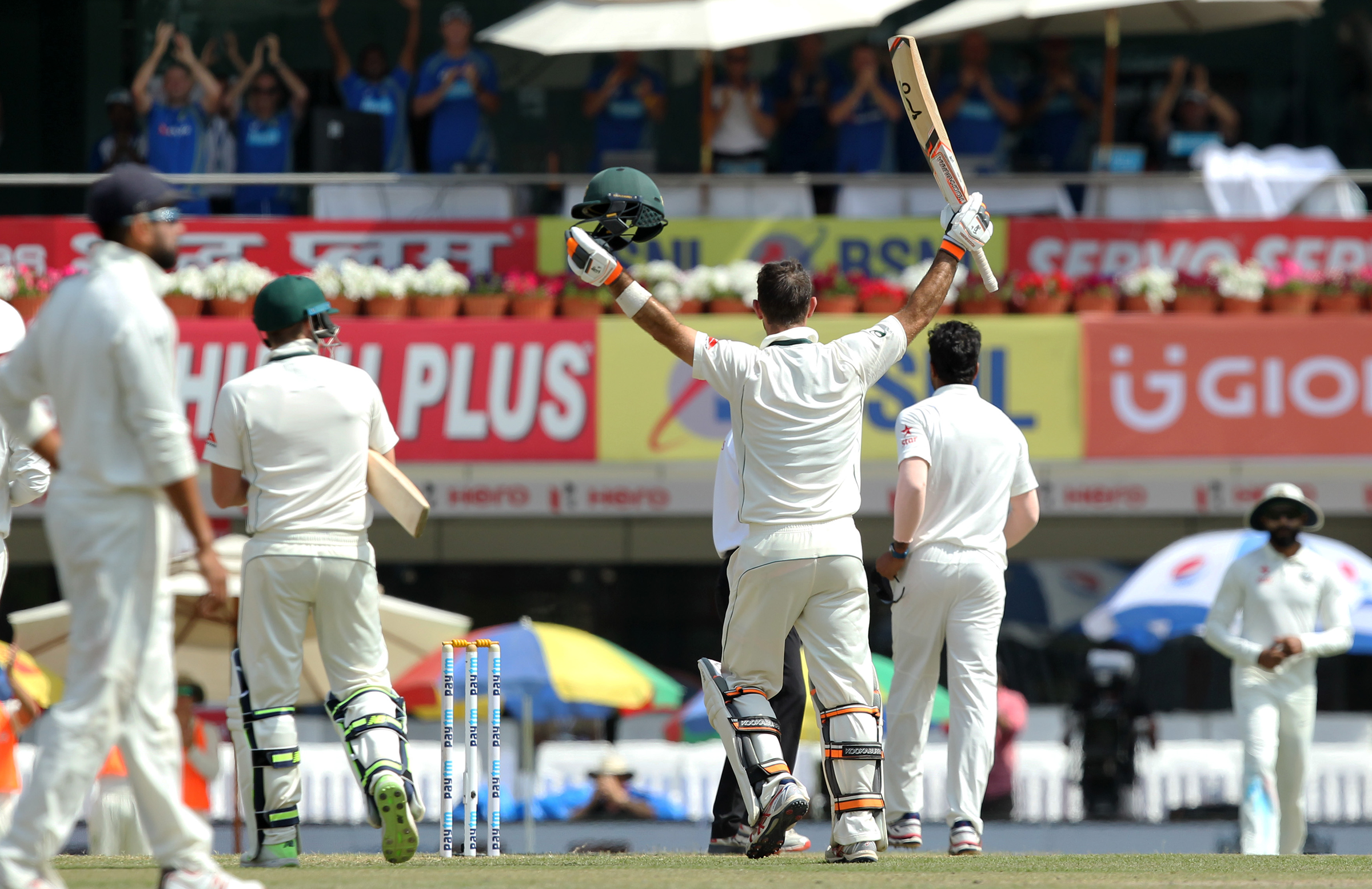Australia's dressing-room acknowledges Maxwell's maiden ton // BCCI