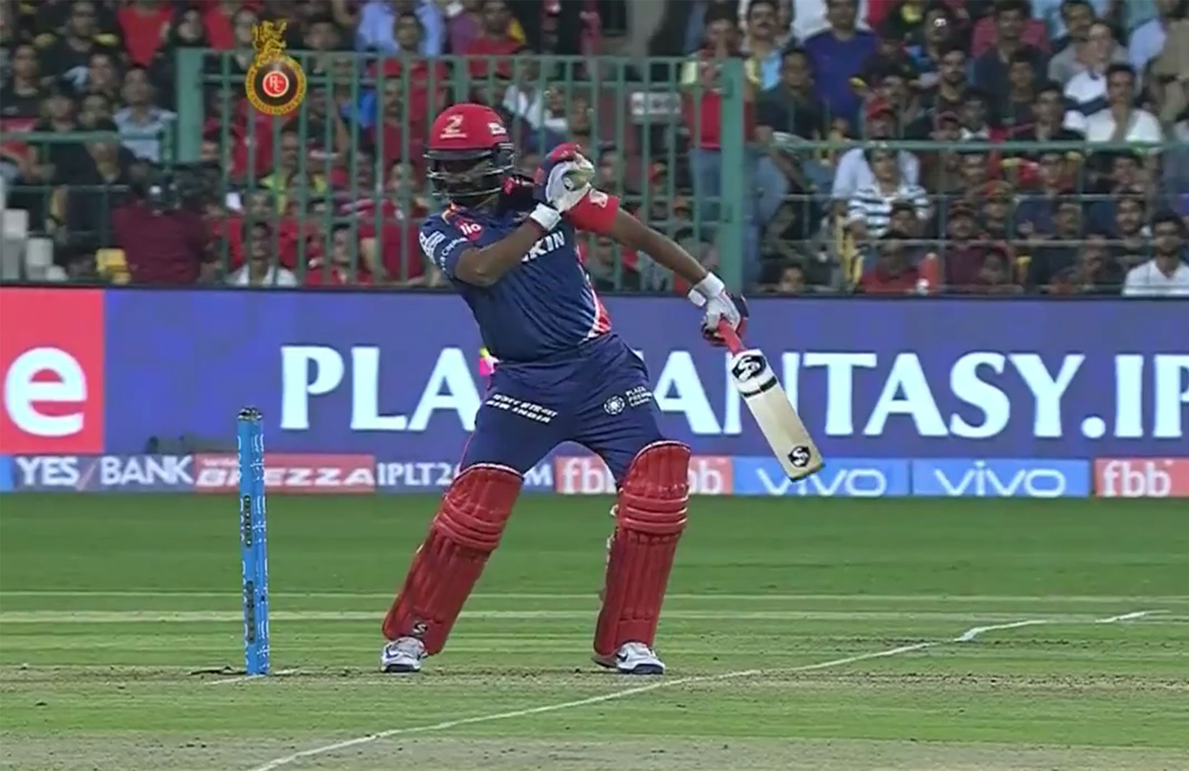 Mishra ended up fending the ball away with his hand // BCCI