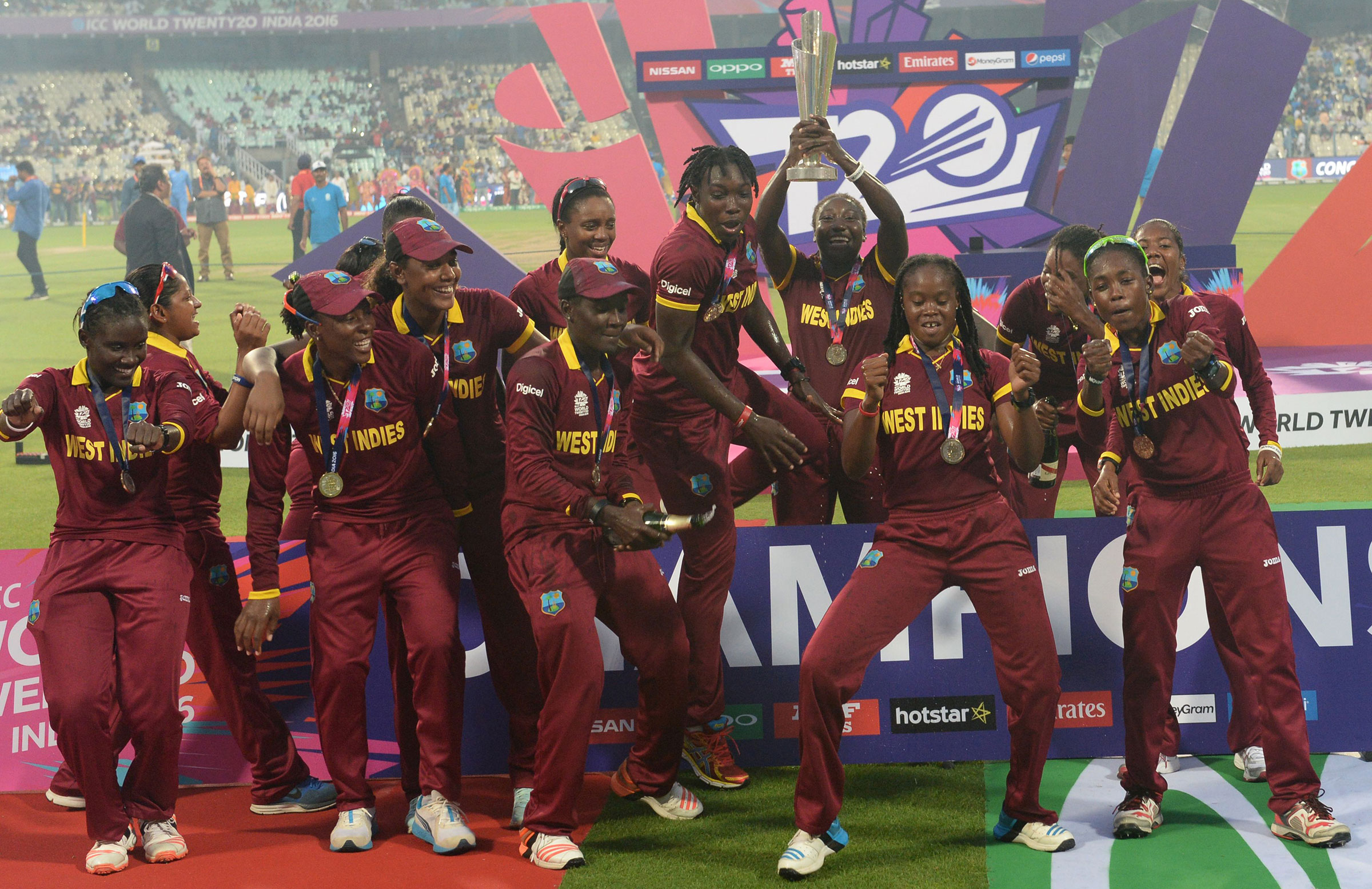 West Indies won the World T20 in India last year // Getty