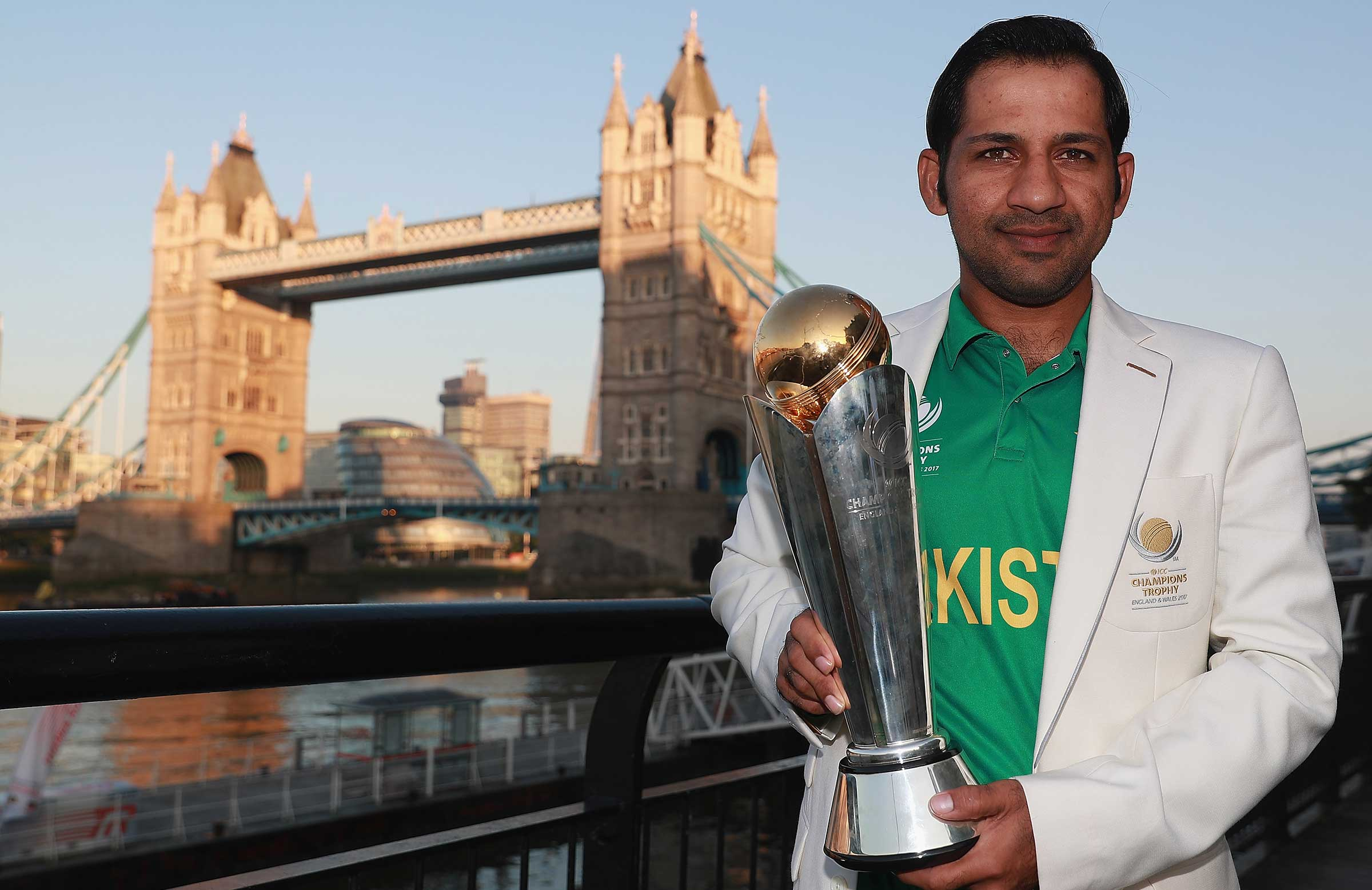 Sarfraz could be the last captain to lift the Champions Trophy // Getty