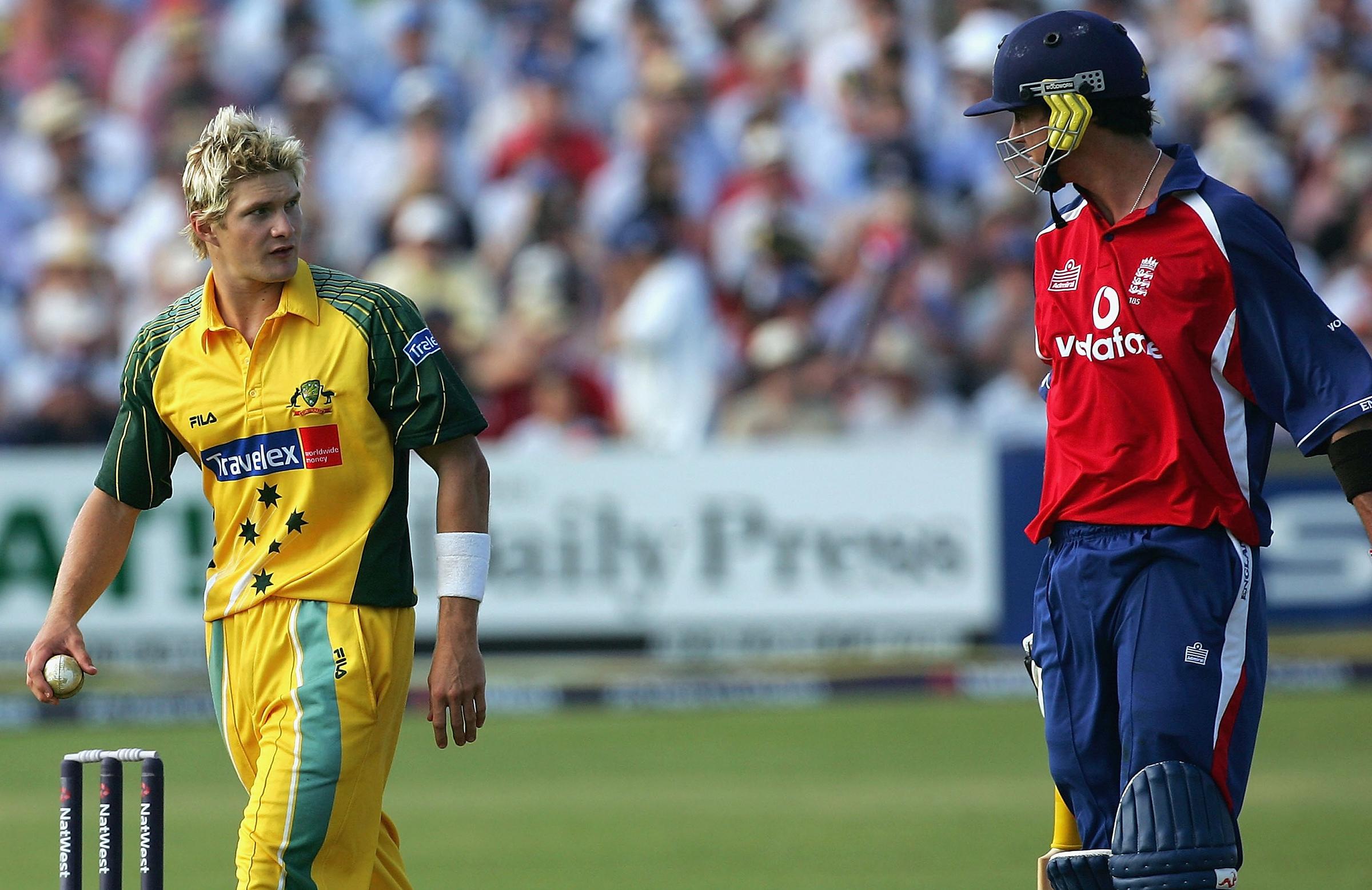 Shane Watson and Kevin Pietersen at Bristol // Getty