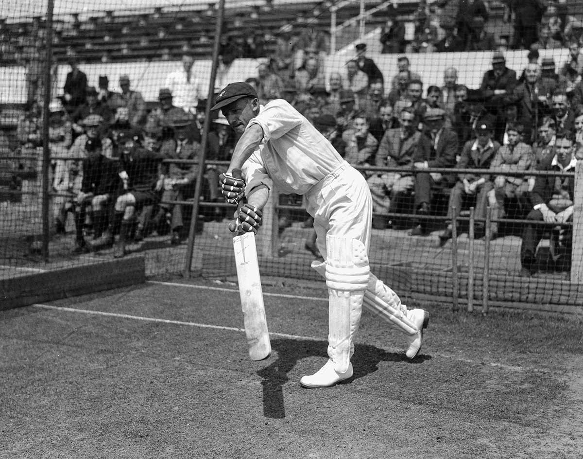 Hundreds turned out to watch Bradman net // Getty