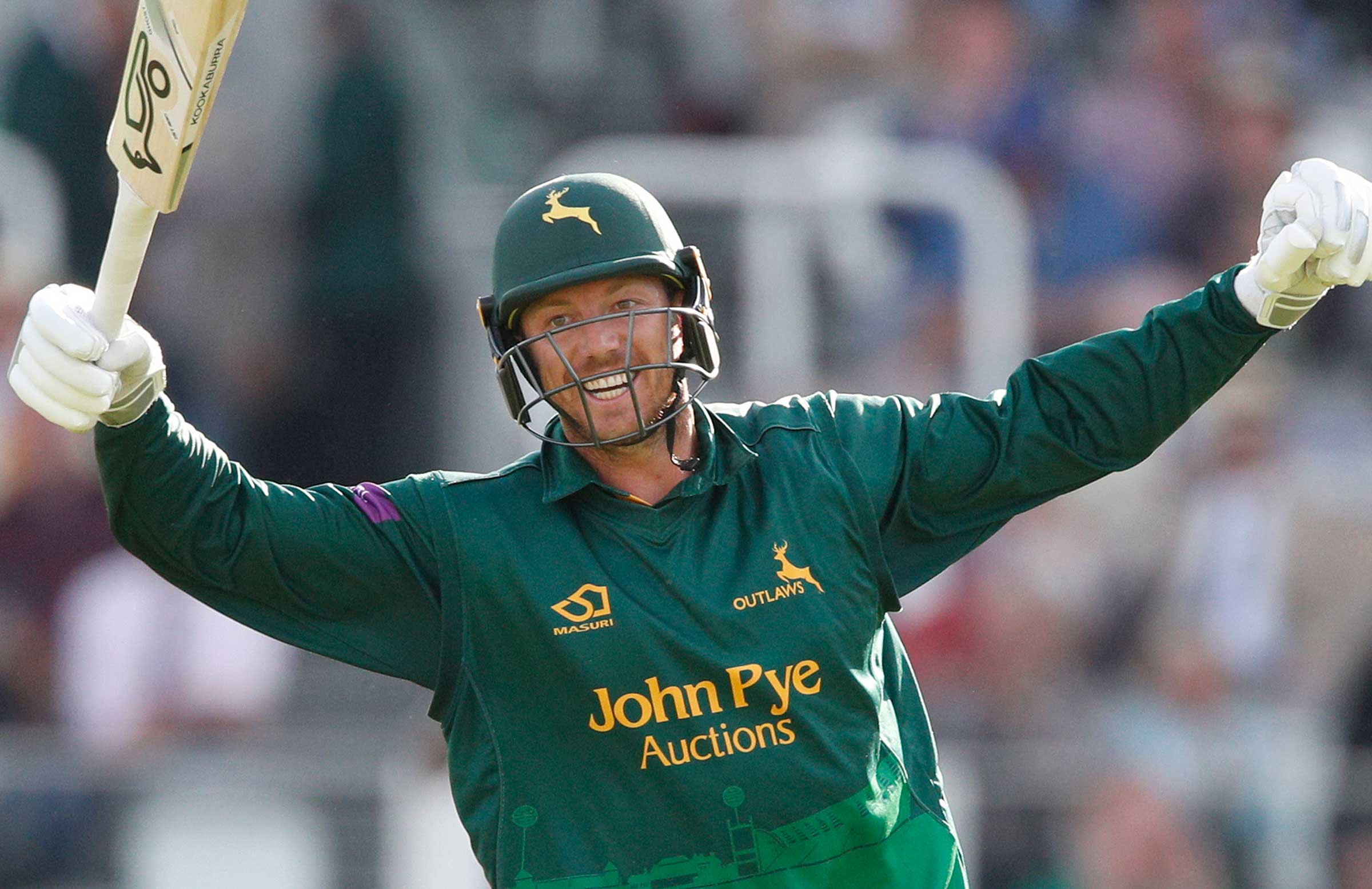 Pattinson celebrates hitting the winning runs at Lord's // Getty