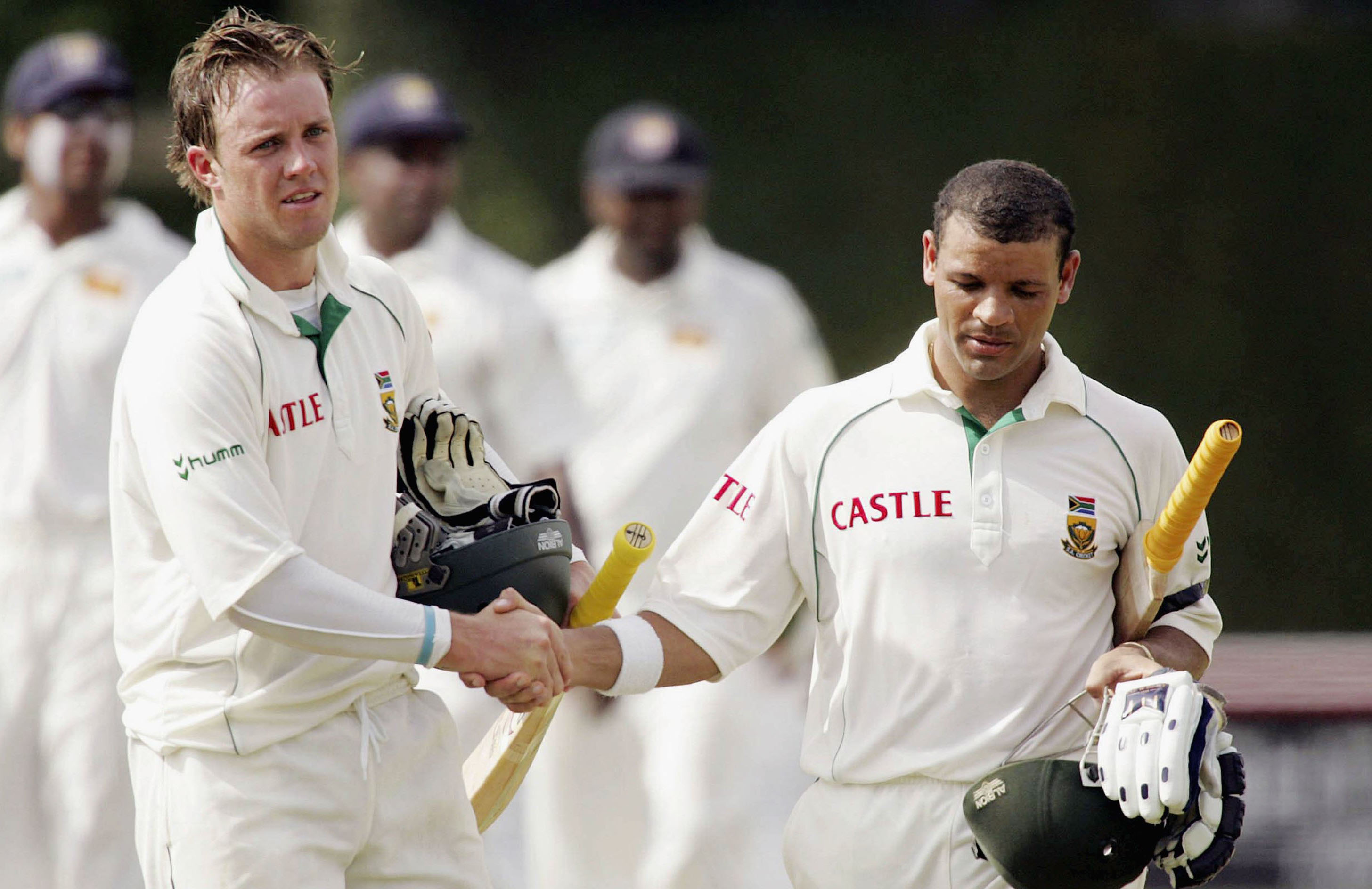 De Villiers and Prince in happier times // Getty