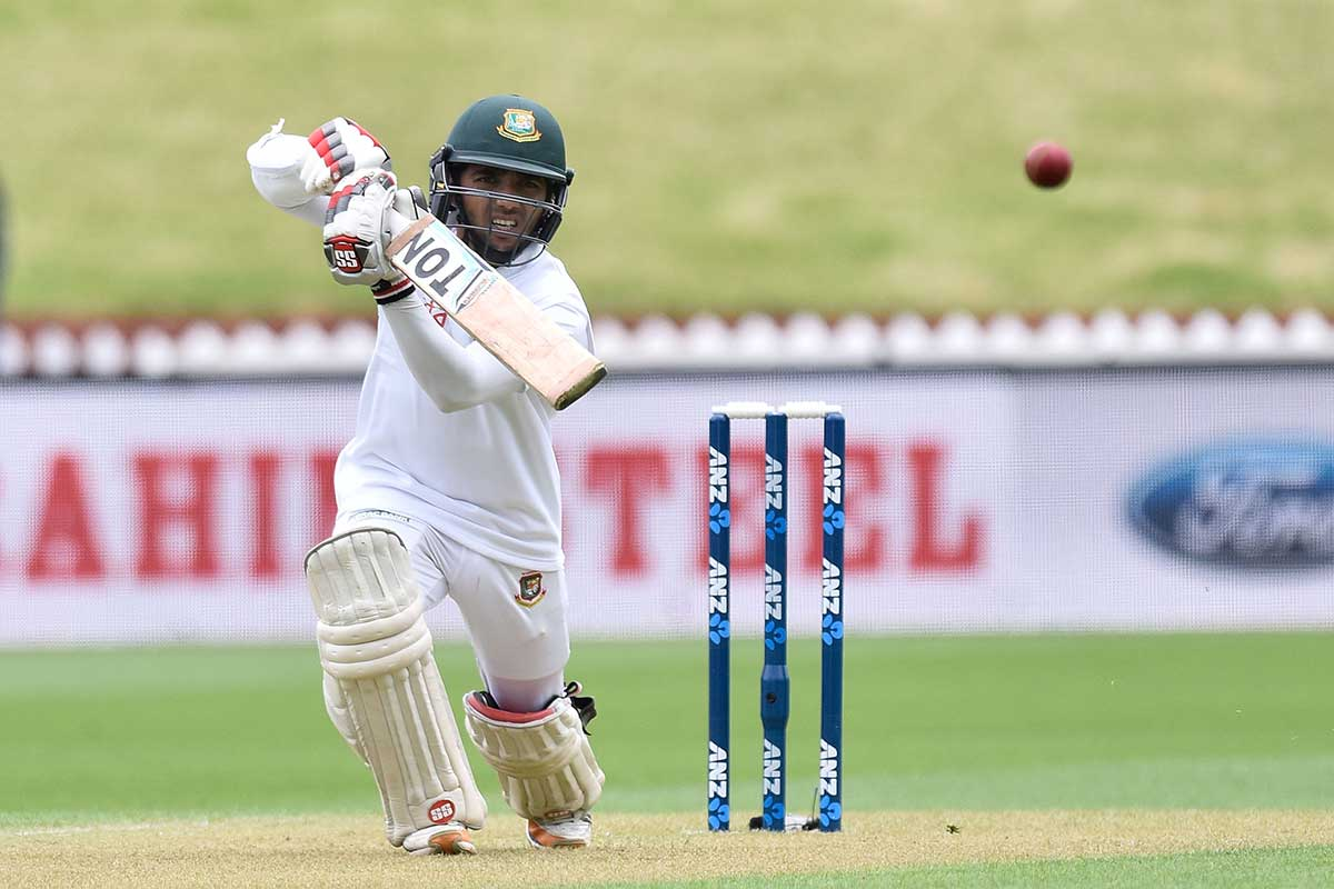 Mominal Haque in Test action against New Zealand // Getty