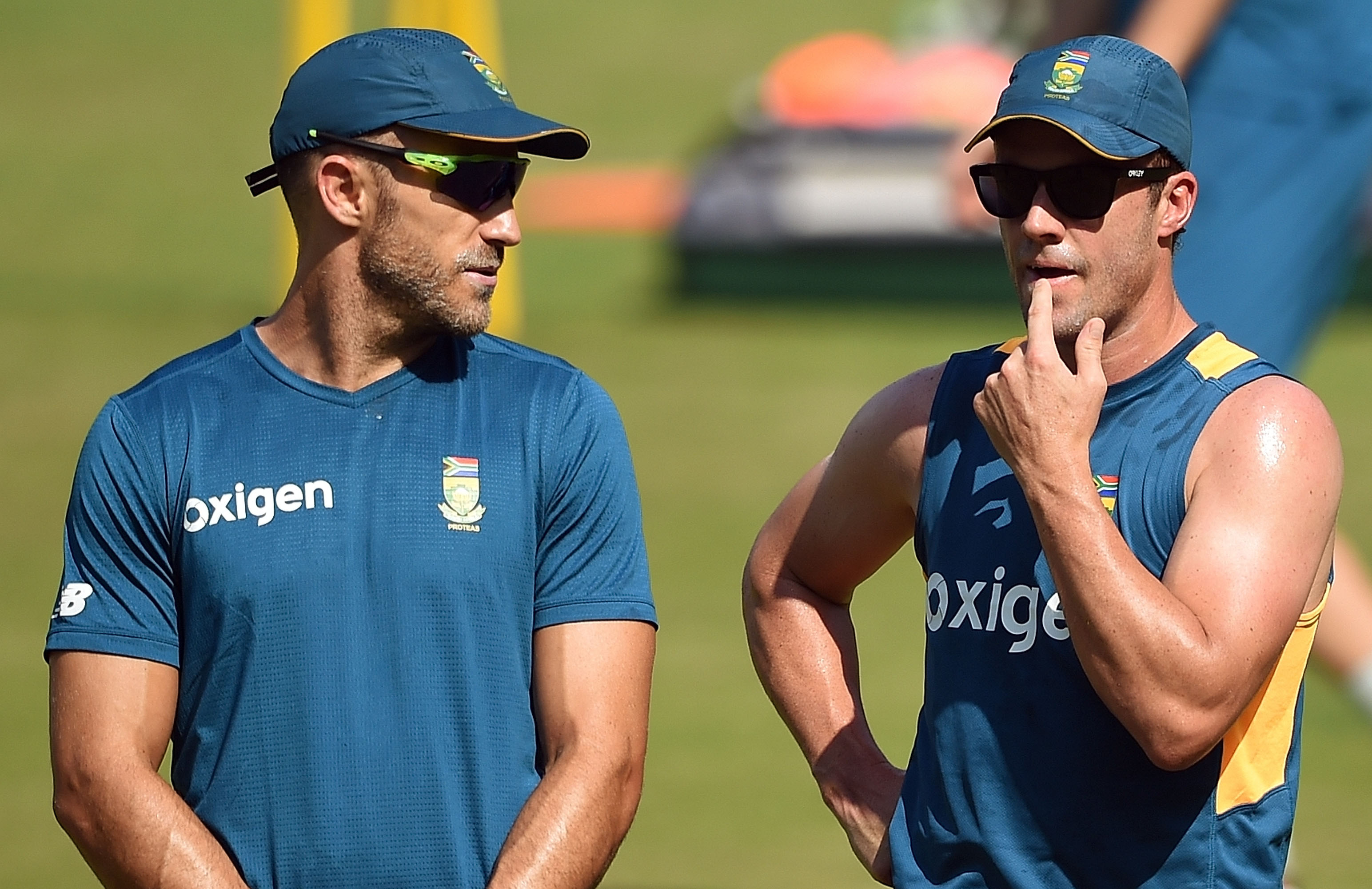 Du Plessis and de Villiers at the 2016 World T20 // Getty