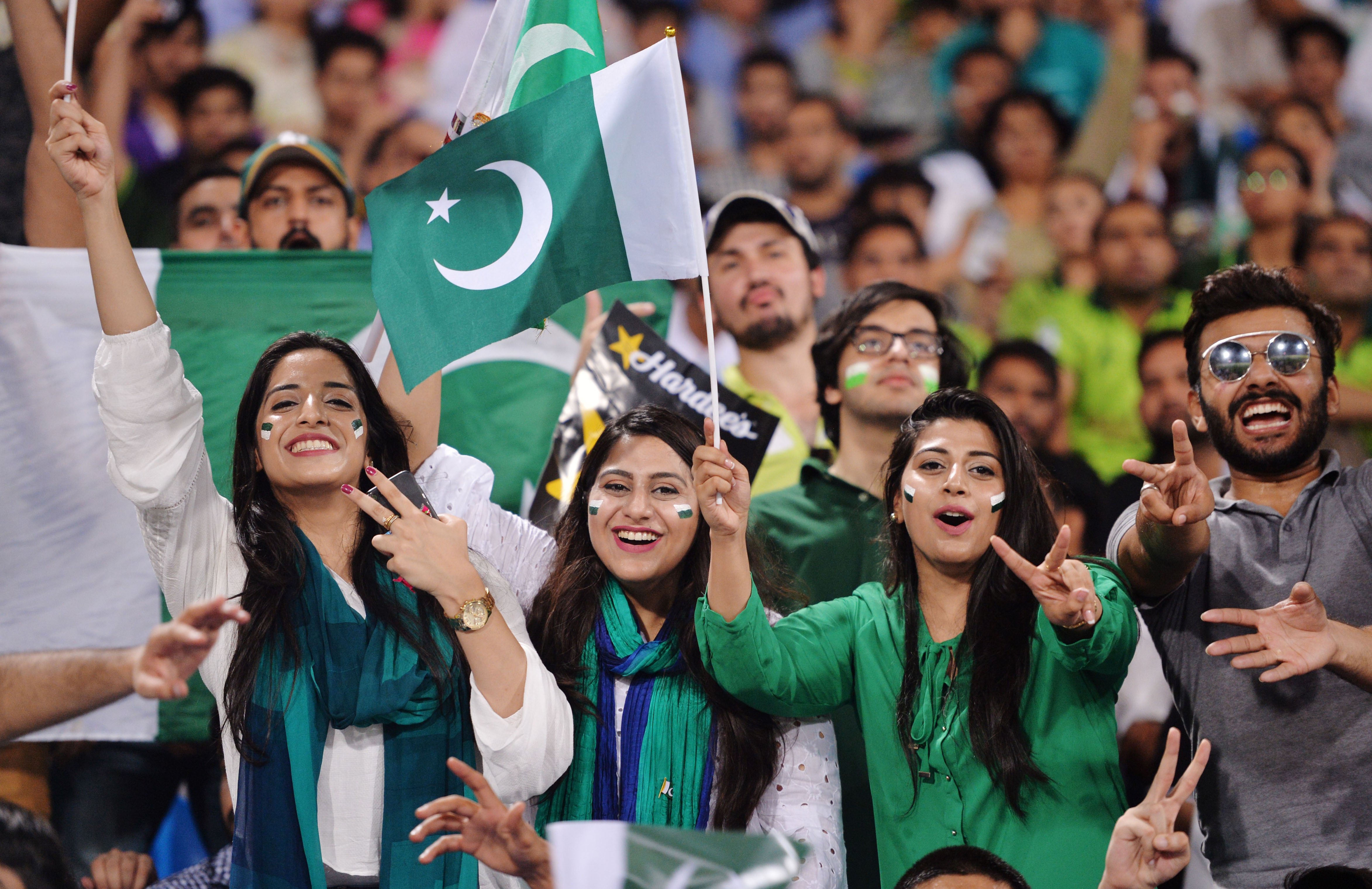 The crowd in Lahore enjoys the action // Getty