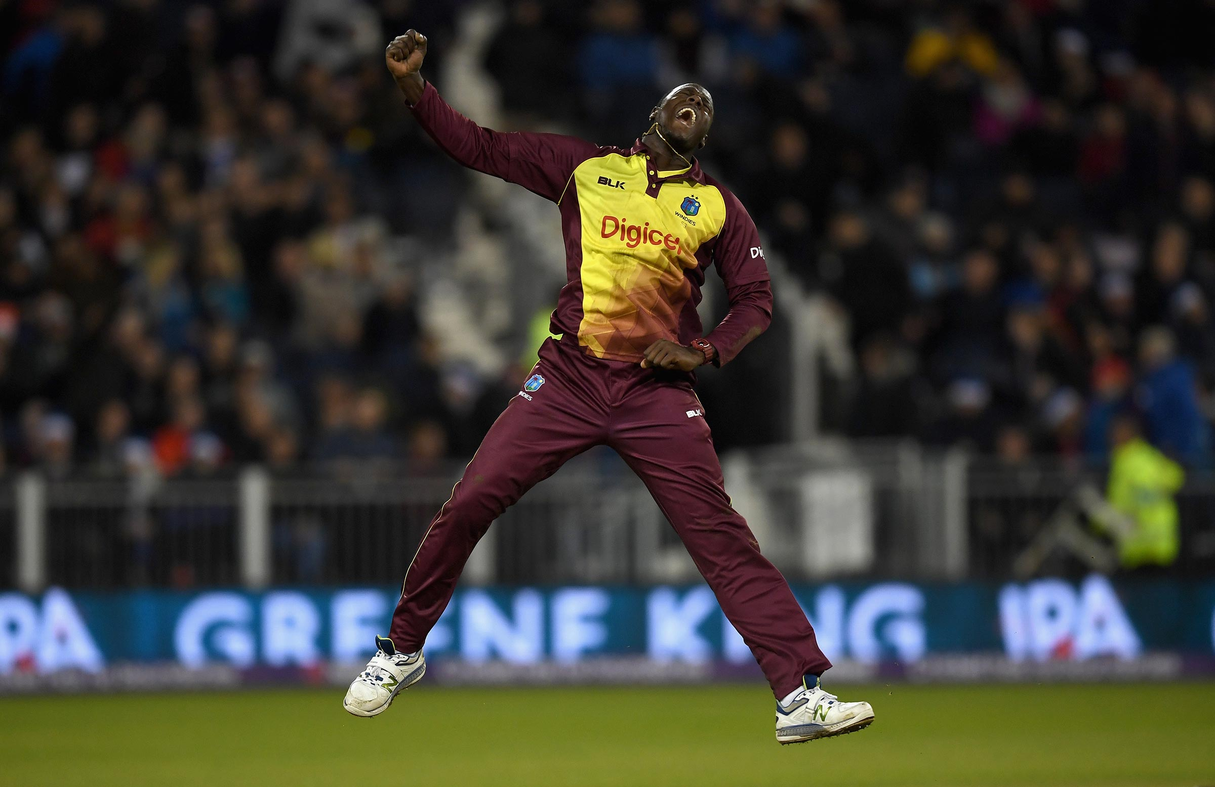 Brathwaite with the celebration of the night // Getty