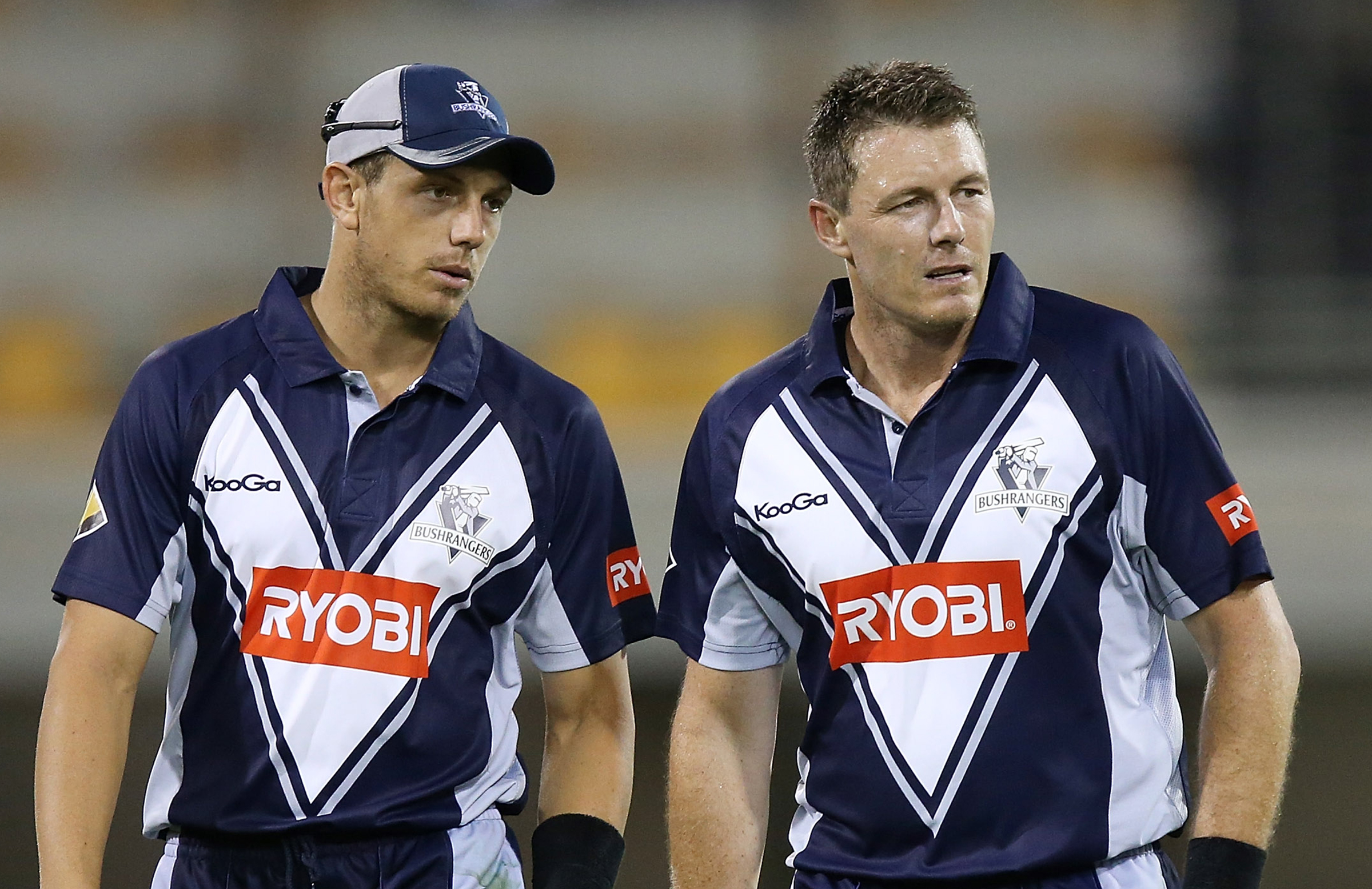 James and Darren playing for Victoria in 2012 // Getty