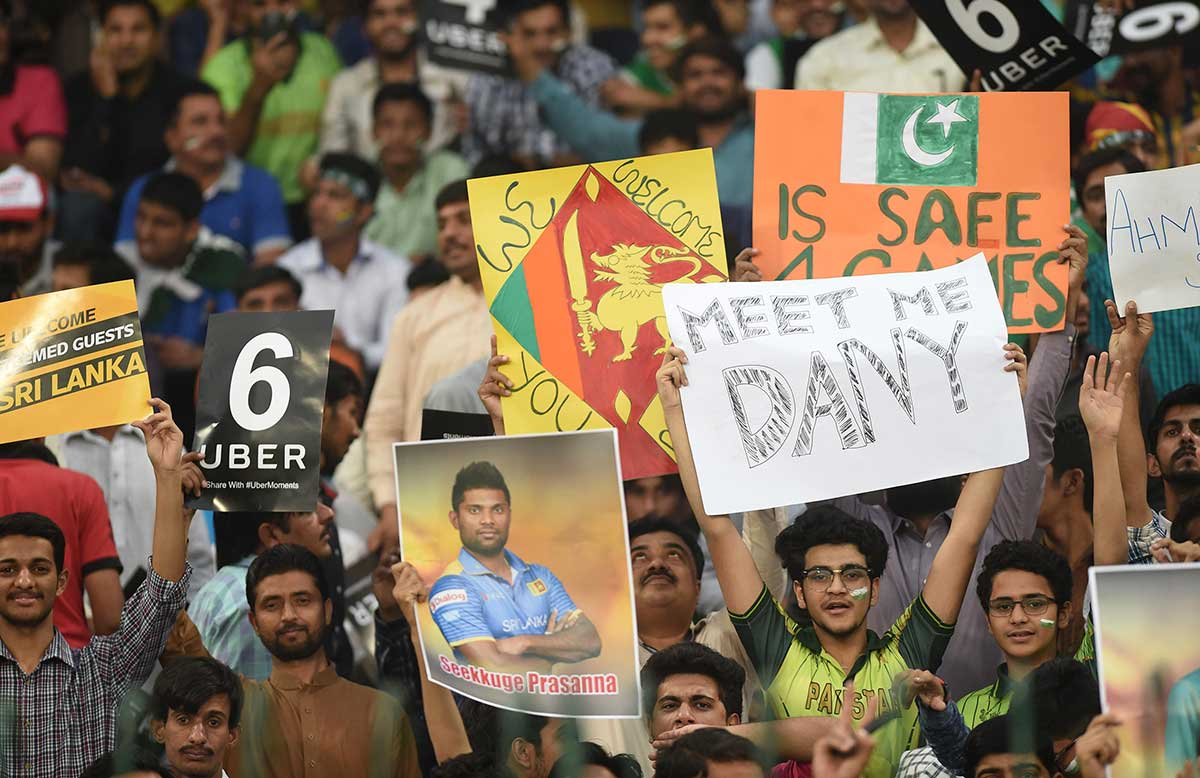 The Lahore faithful showed great appreciation for Sri Lanka's visit // Getty